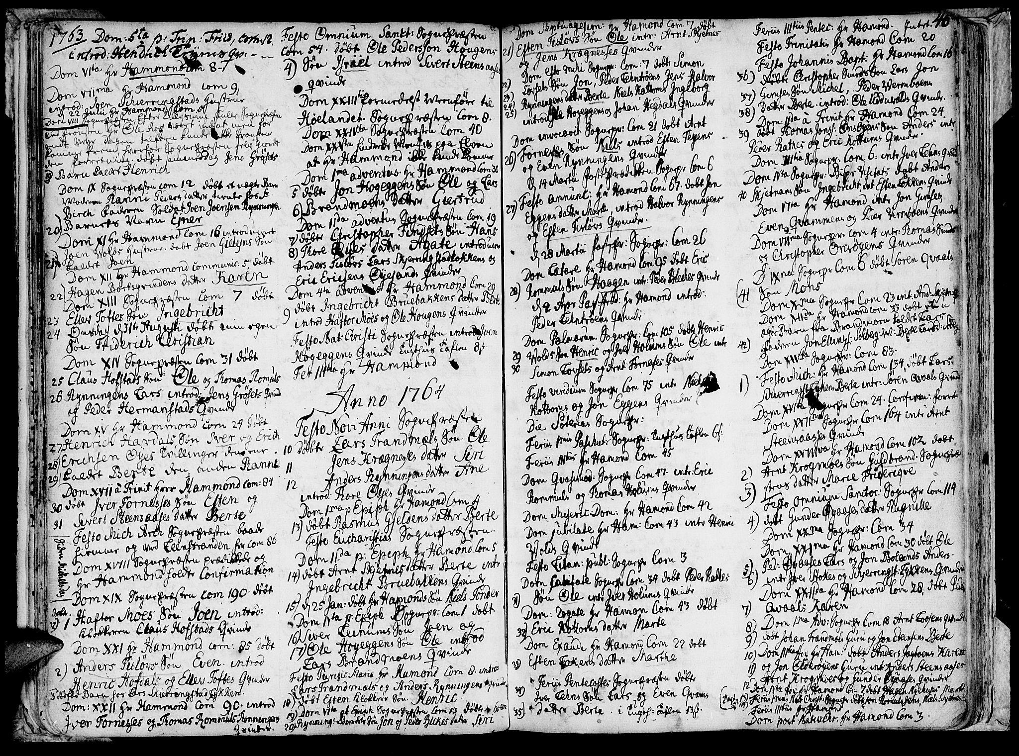 SAT, Ministerialprotokoller, klokkerbøker og fødselsregistre - Sør-Trøndelag, 691/L1057: Ministerialbok nr. 691A01 /1, 1740-1767, s. 46
