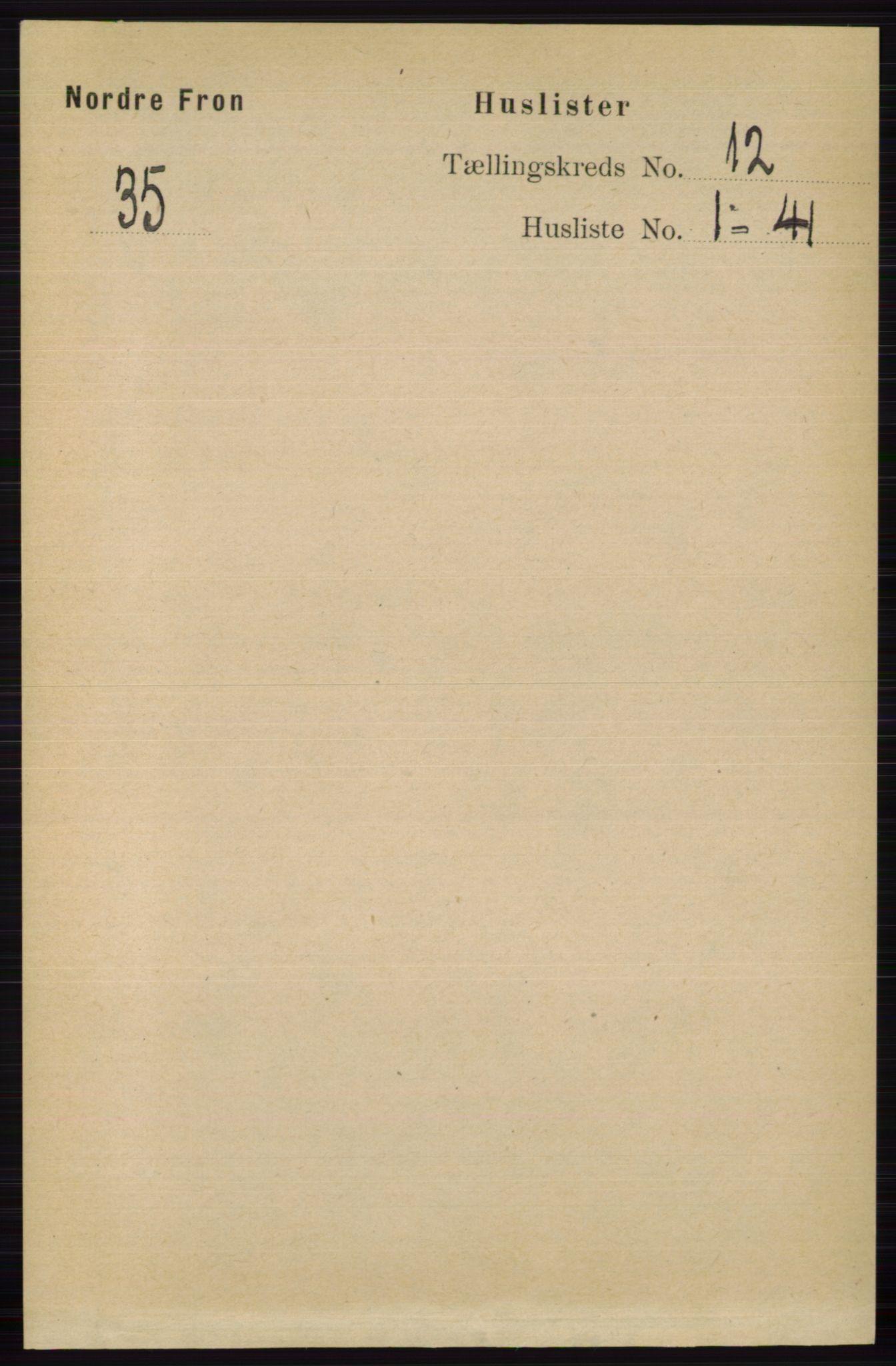 RA, Folketelling 1891 for 0518 Nord-Fron herred, 1891, s. 5062