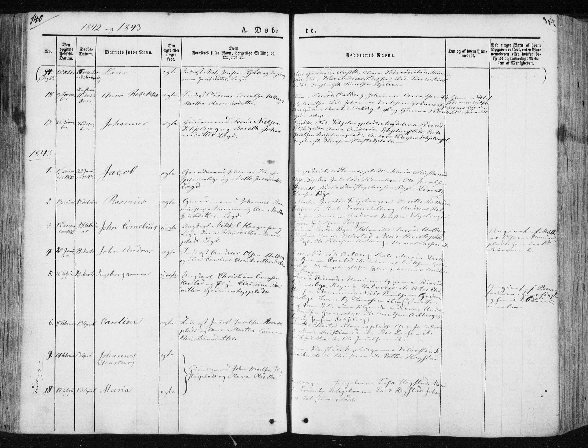 SAT, Ministerialprotokoller, klokkerbøker og fødselsregistre - Nord-Trøndelag, 730/L0280: Ministerialbok nr. 730A07 /3, 1840-1854, s. 140