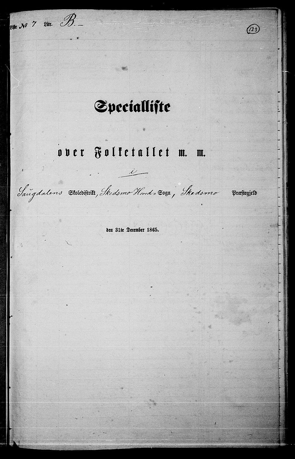 RA, Folketelling 1865 for 0231P Skedsmo prestegjeld, 1865, s. 111