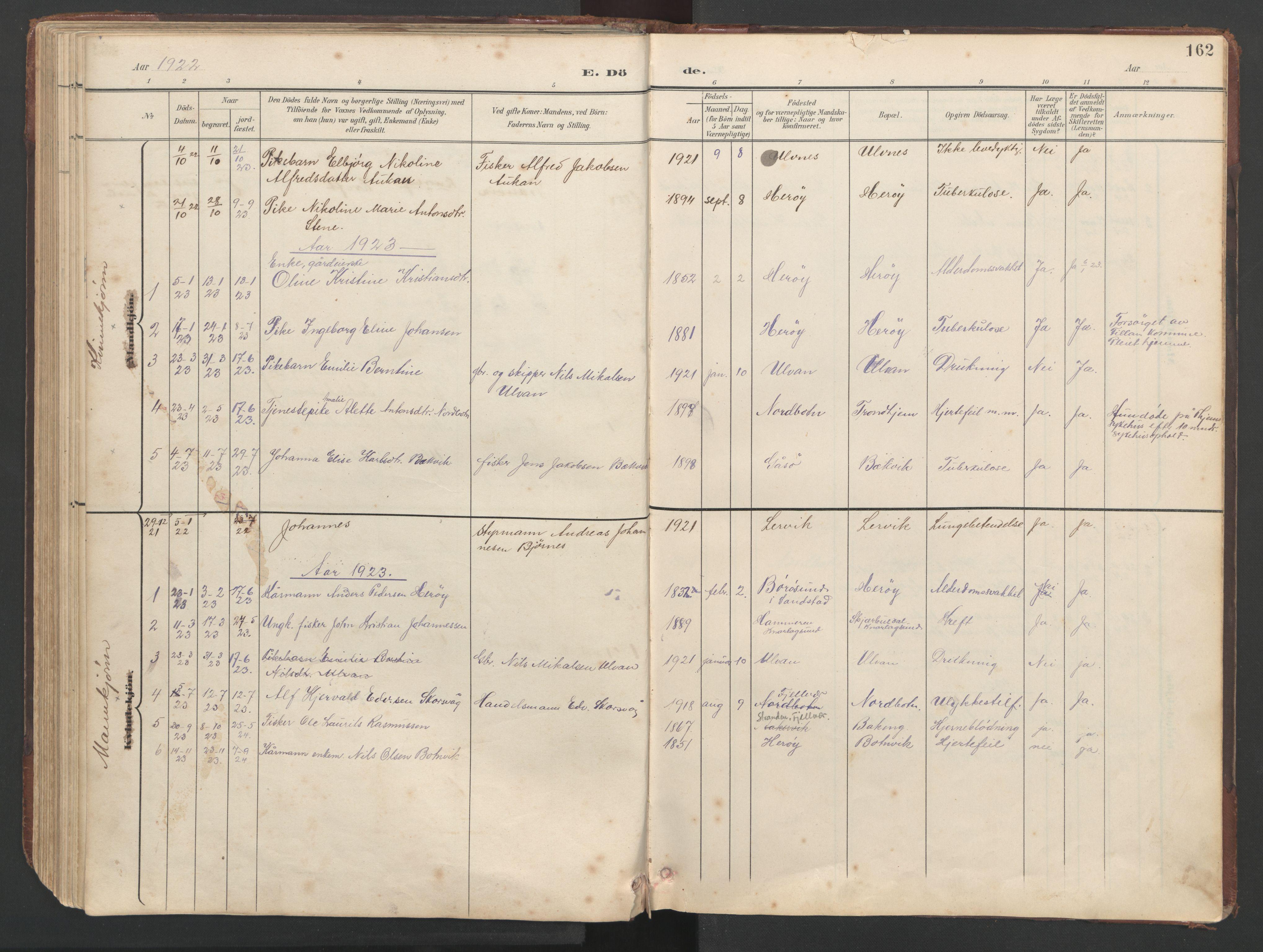 SAT, Ministerialprotokoller, klokkerbøker og fødselsregistre - Sør-Trøndelag, 638/L0571: Klokkerbok nr. 638C03, 1901-1930, s. 162