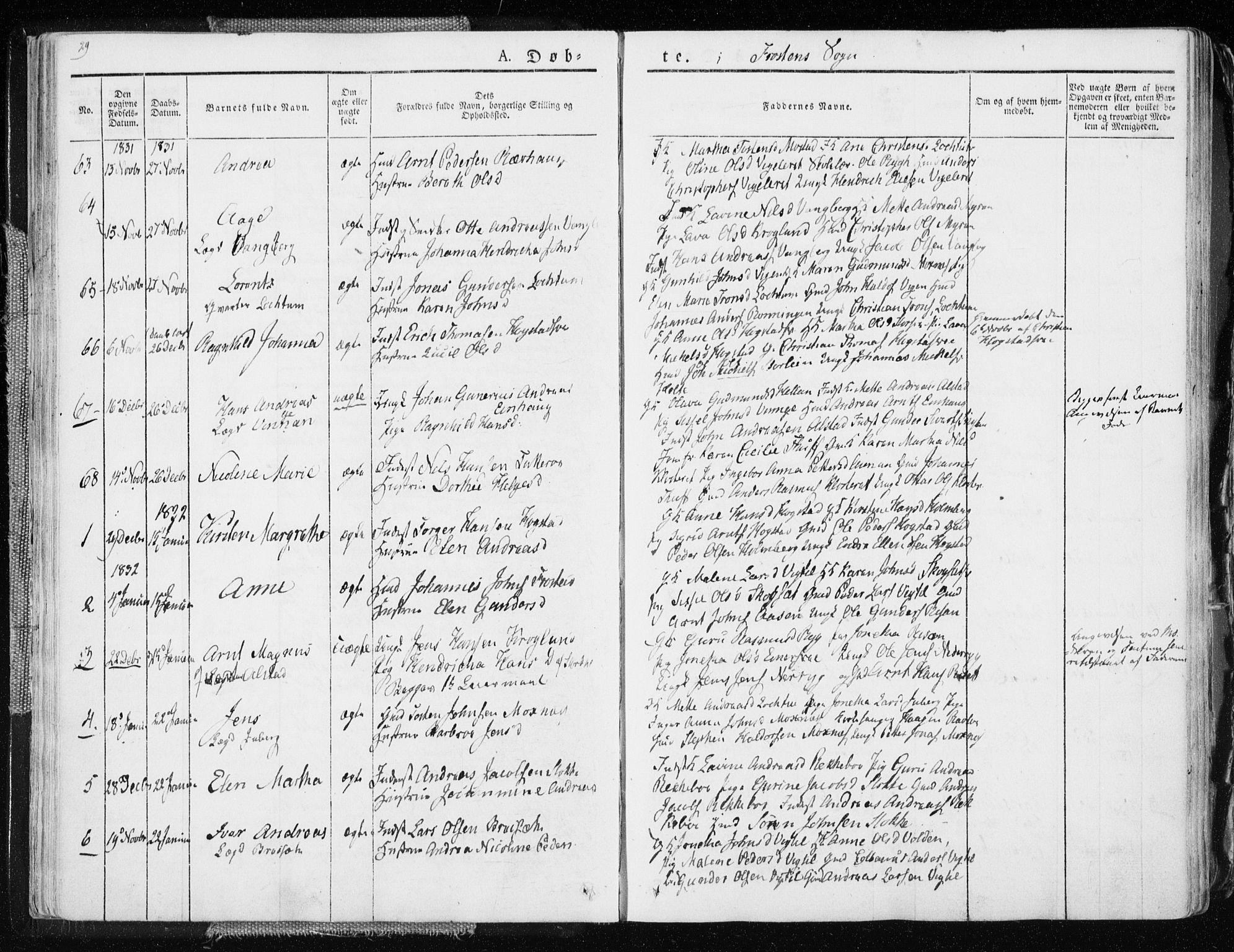 SAT, Ministerialprotokoller, klokkerbøker og fødselsregistre - Nord-Trøndelag, 713/L0114: Ministerialbok nr. 713A05, 1827-1839, s. 29