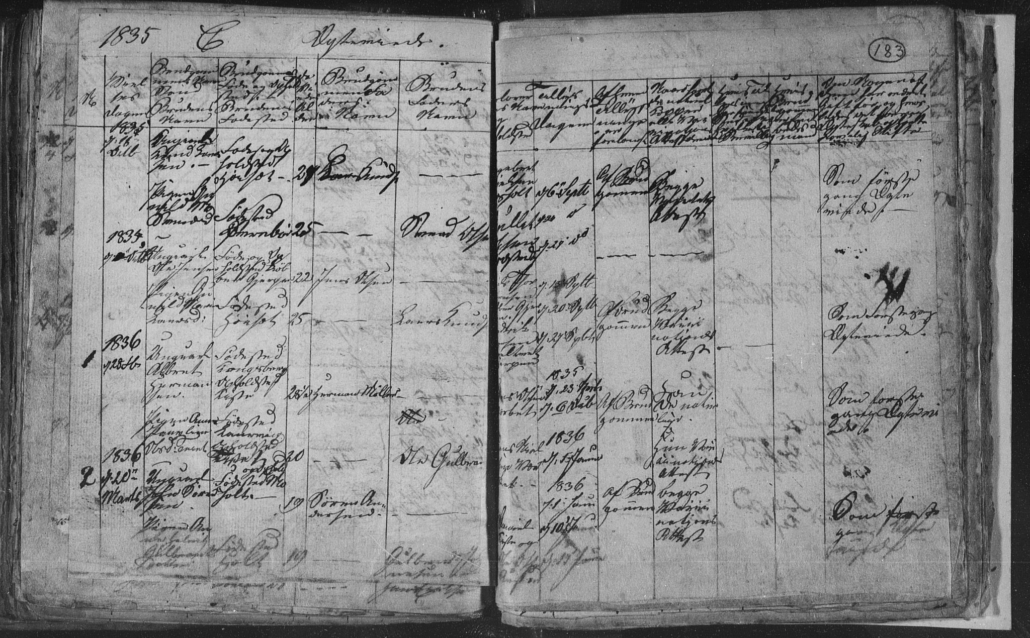 SAKO, Siljan kirkebøker, G/Ga/L0001: Klokkerbok nr. 1, 1827-1847, s. 183