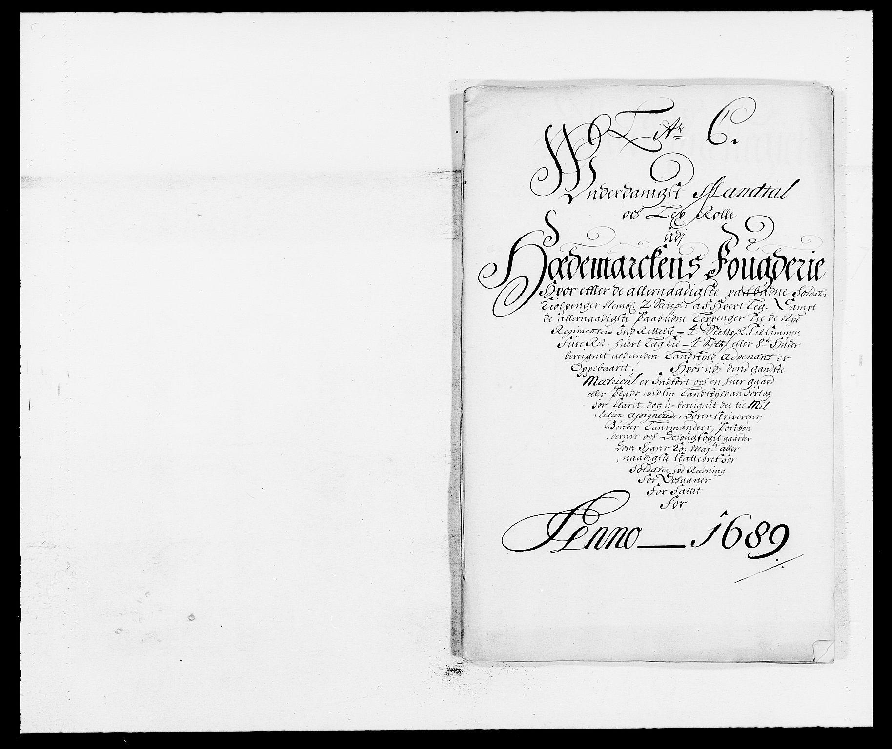 RA, Rentekammeret inntil 1814, Reviderte regnskaper, Fogderegnskap, R16/L1030: Fogderegnskap Hedmark, 1689-1691, s. 95