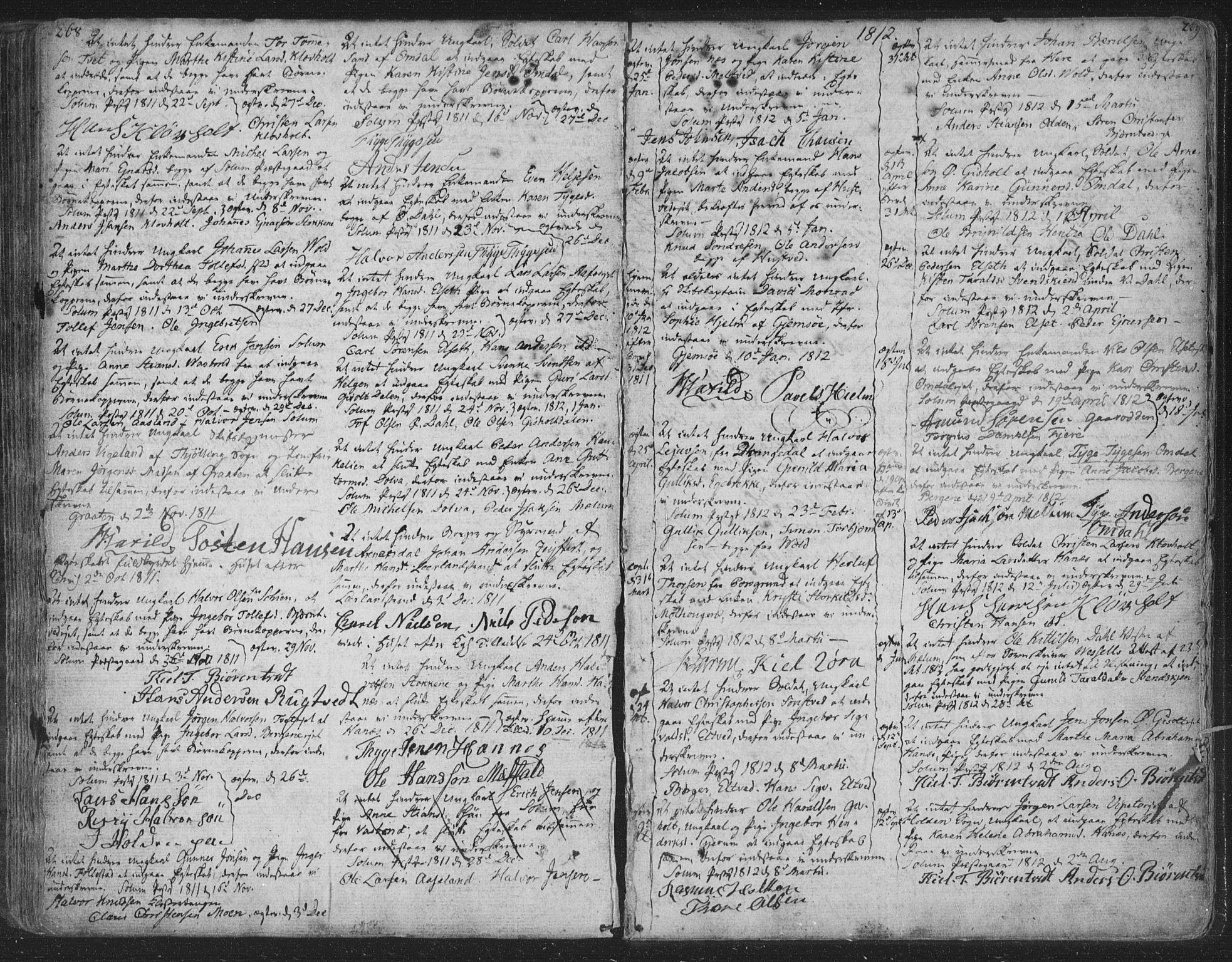 SAKO, Solum kirkebøker, F/Fa/L0003: Ministerialbok nr. I 3, 1761-1814, s. 268-269