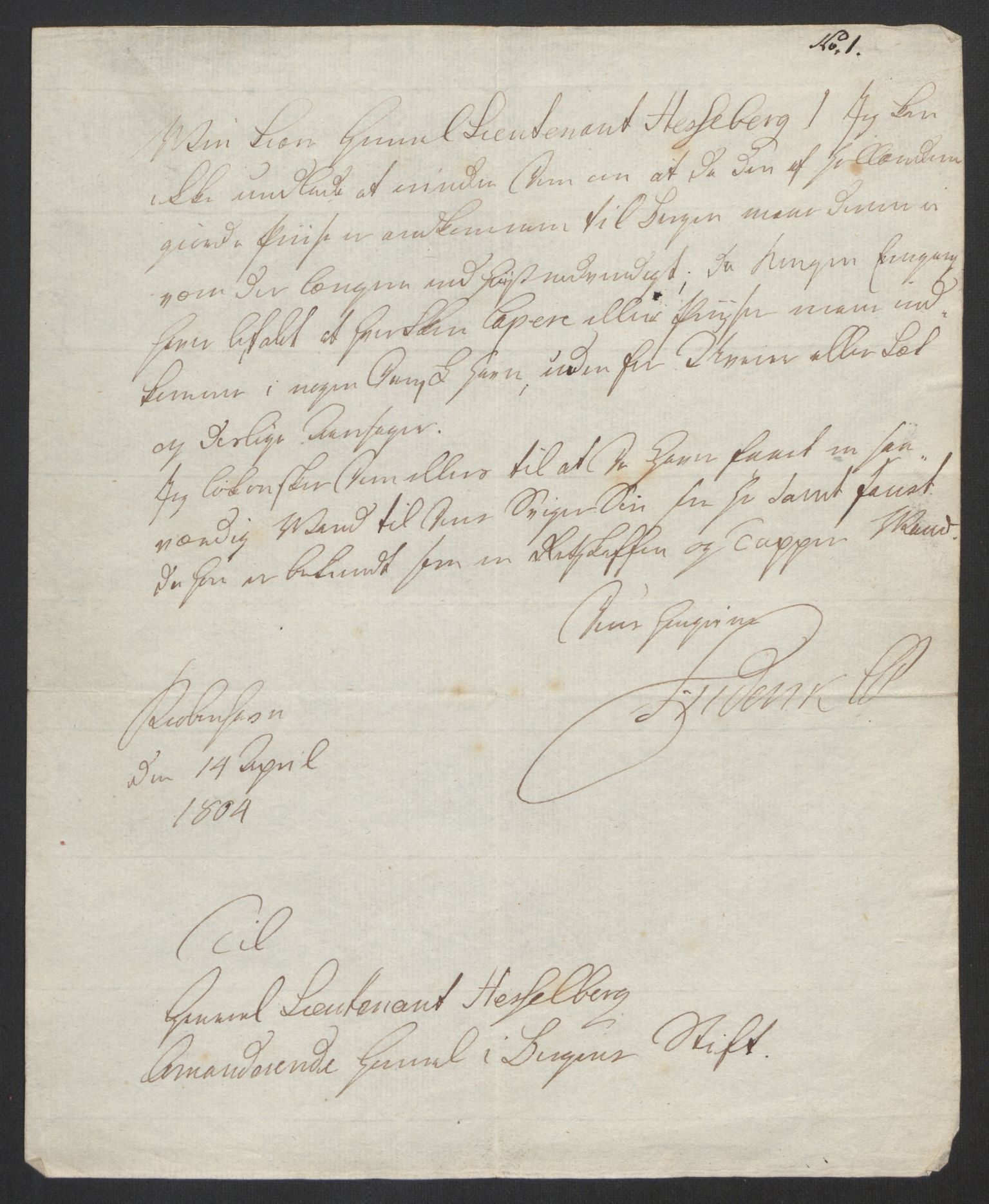 RA, Hesselberg, Hans Jacob Henning, F/L0001: --, 1759-1809, s. 85
