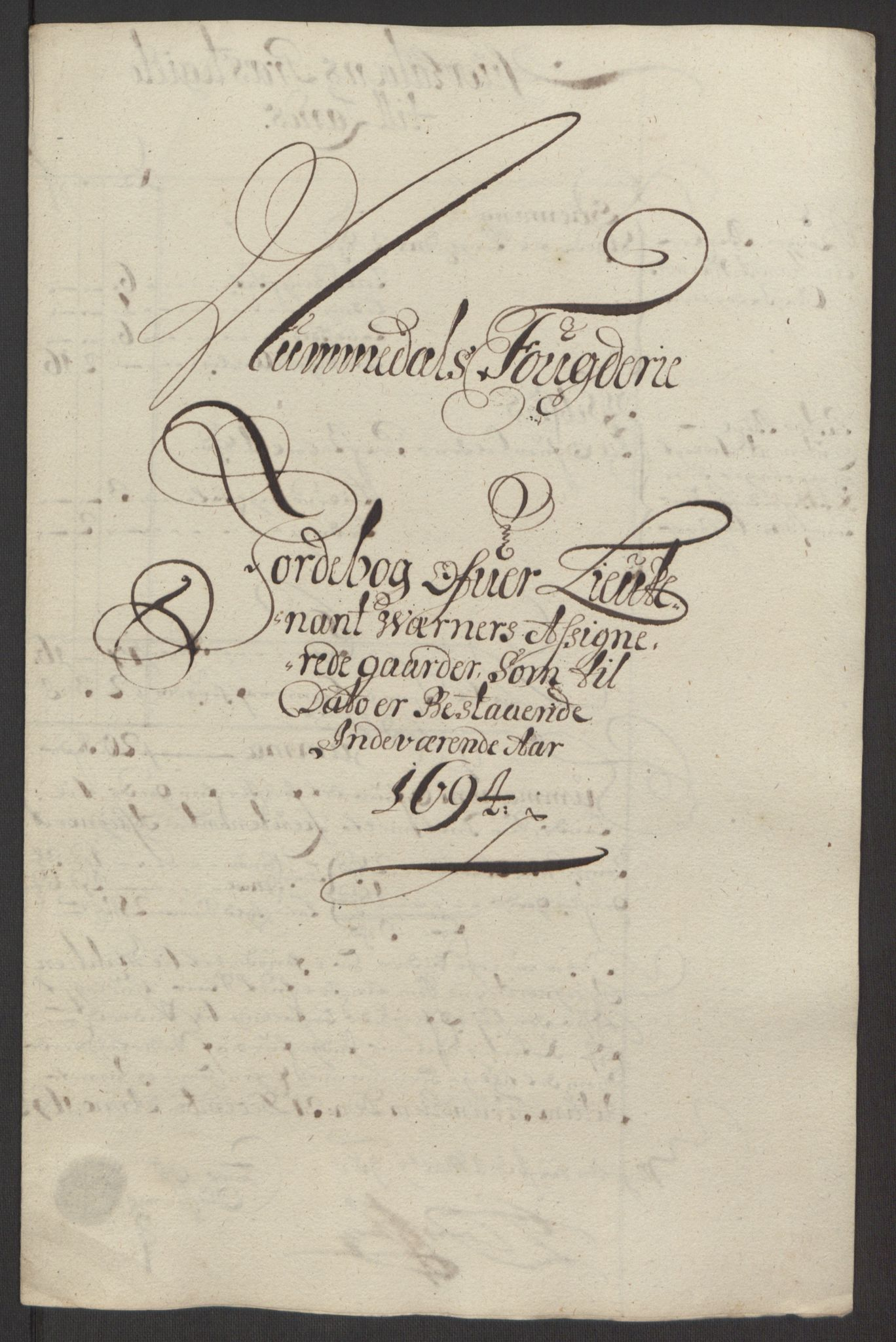RA, Rentekammeret inntil 1814, Reviderte regnskaper, Fogderegnskap, R64/L4424: Fogderegnskap Namdal, 1692-1695, s. 422
