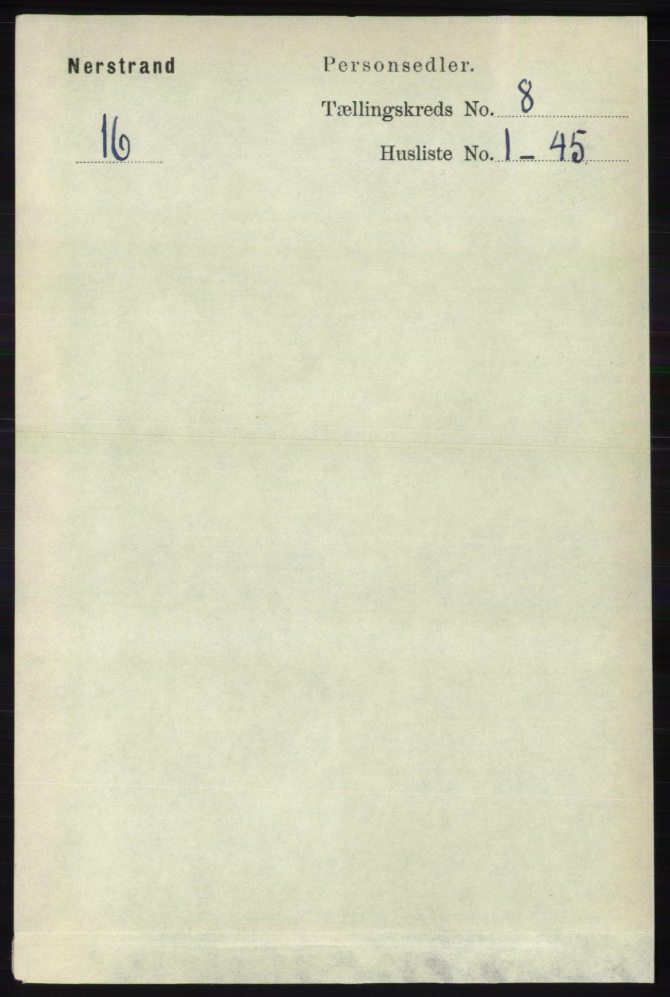 RA, Folketelling 1891 for 1139 Nedstrand herred, 1891, s. 1436
