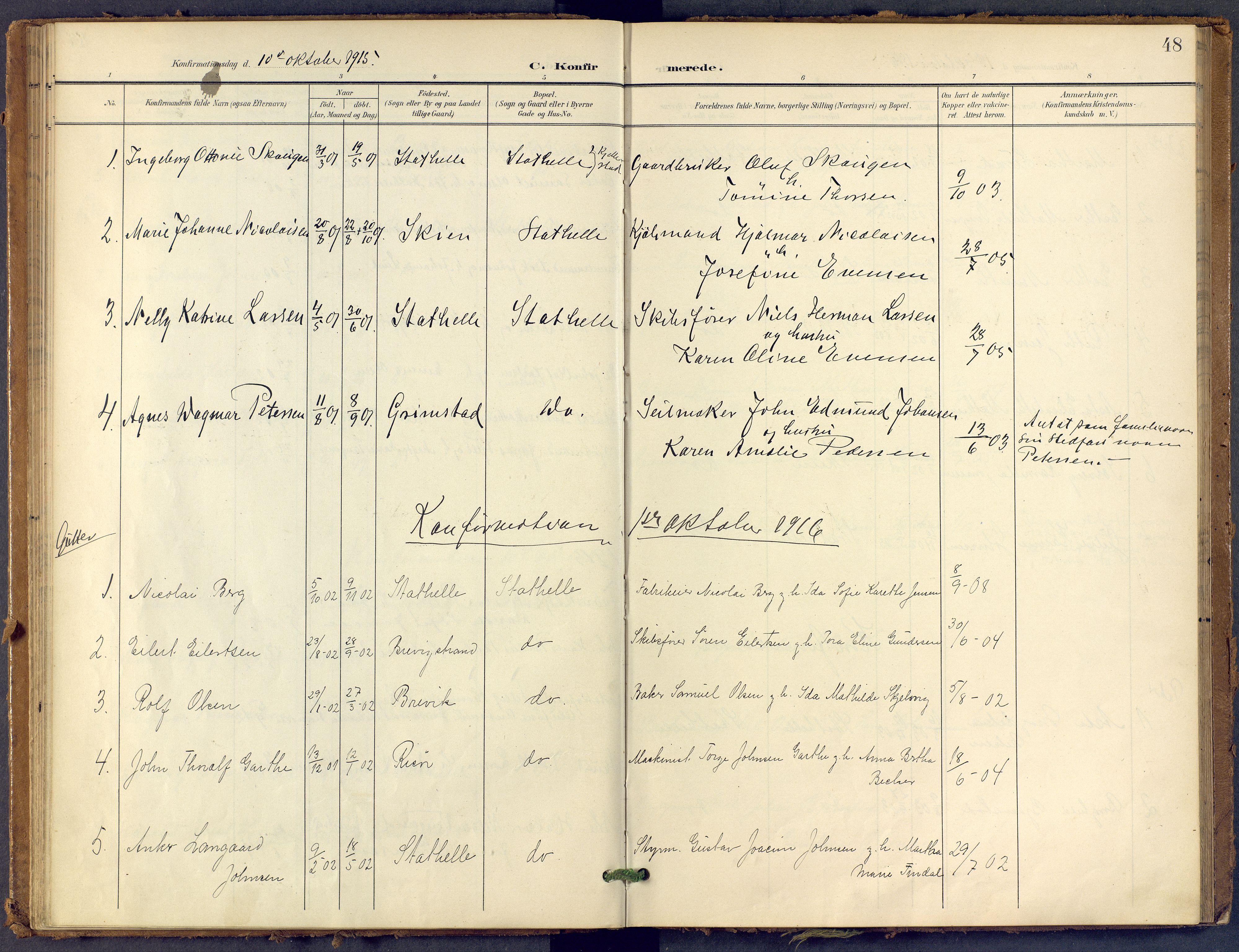 SAKO, Bamble kirkebøker, F/Fb/L0002: Ministerialbok nr. II 2, 1900-1921, s. 48