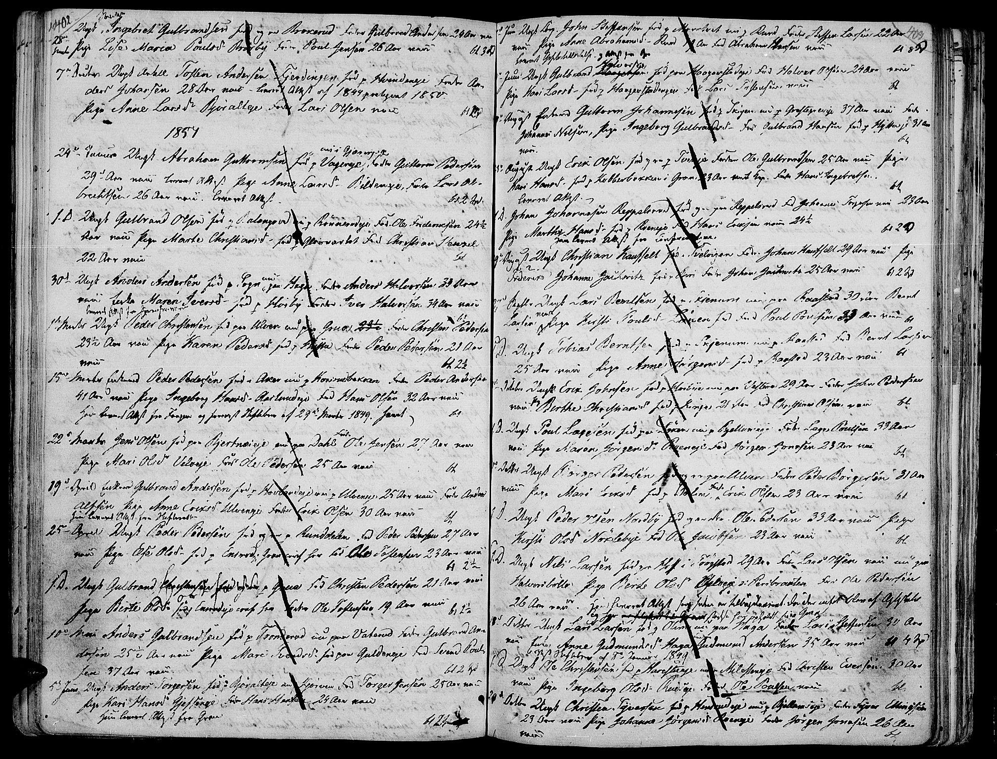 SAH, Jevnaker prestekontor, Ministerialbok nr. 4, 1800-1861, s. 402-403