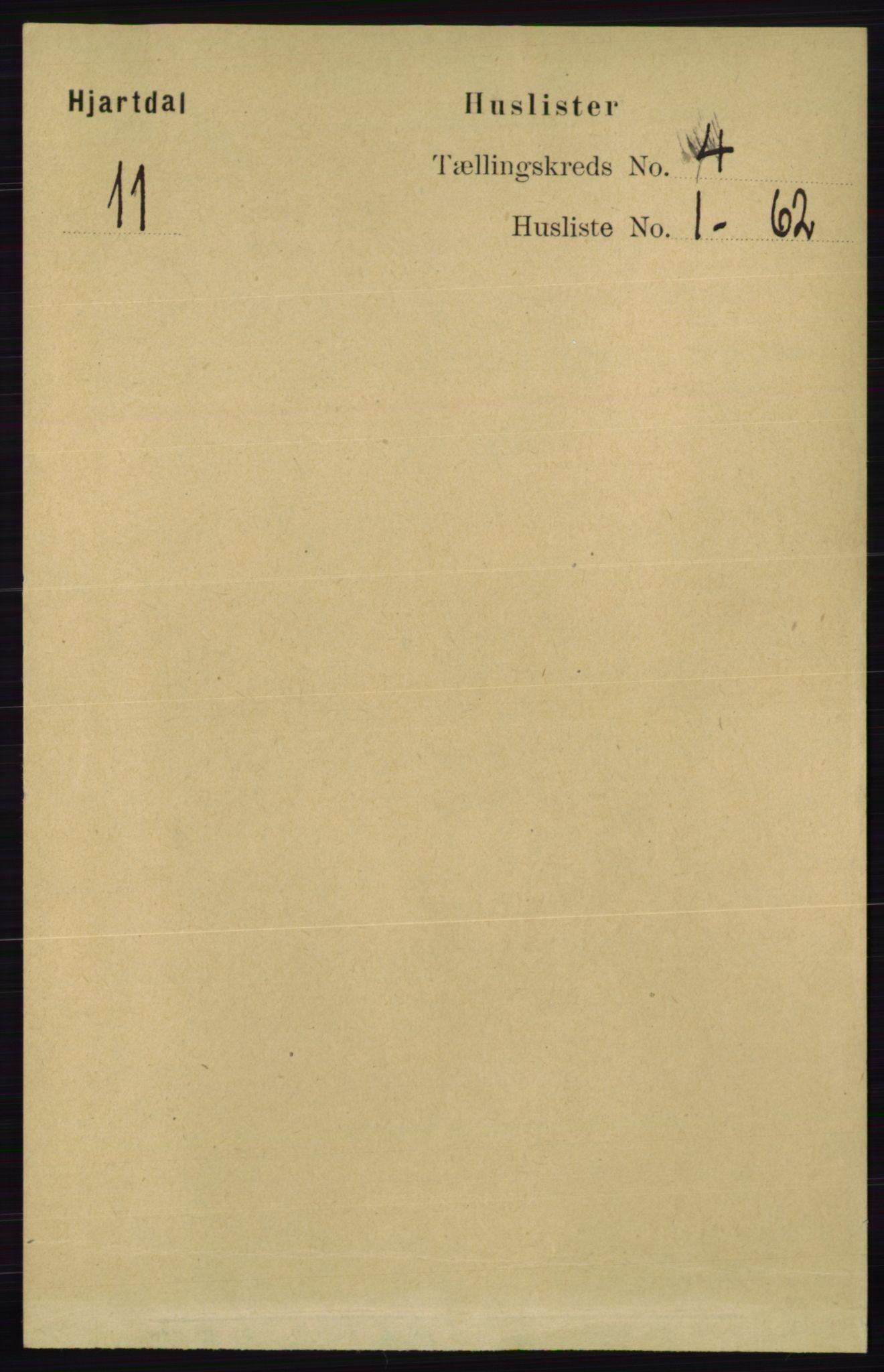 RA, Folketelling 1891 for 0827 Hjartdal herred, 1891, s. 1330
