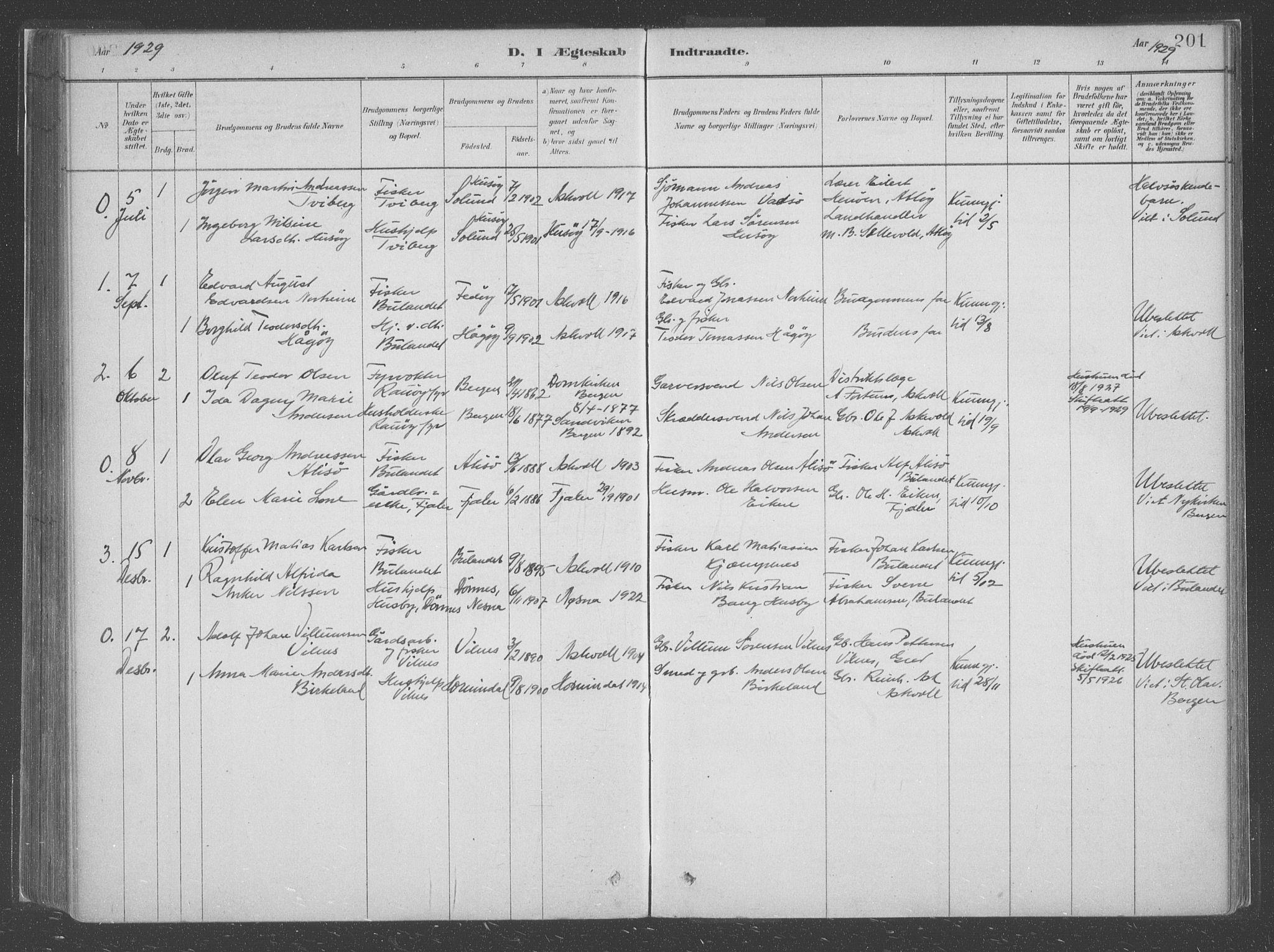 SAB, Askvoll Sokneprestembete, Ministerialbok nr. C  1, 1879-1922, s. 201