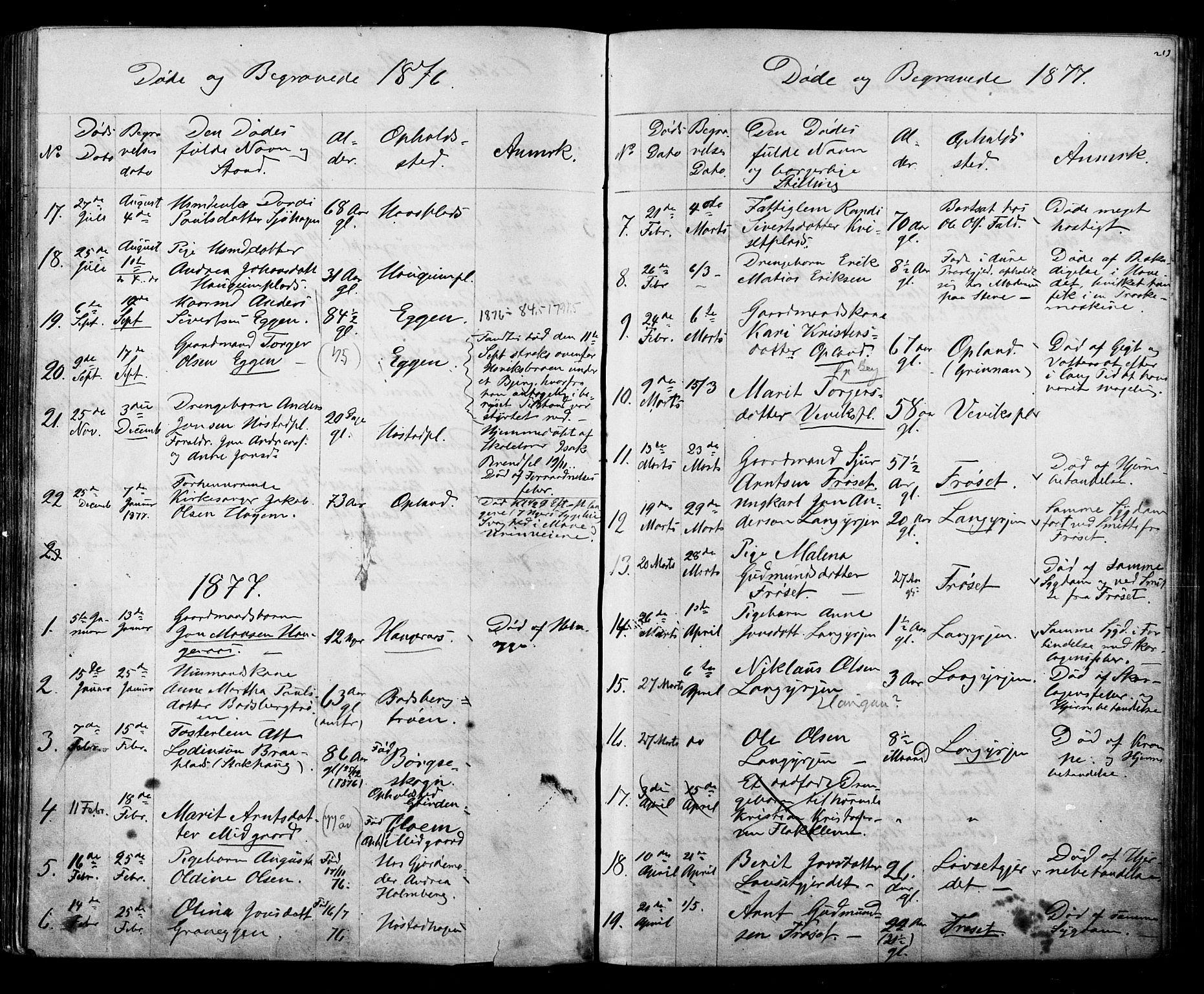 SAT, Ministerialprotokoller, klokkerbøker og fødselsregistre - Sør-Trøndelag, 612/L0387: Klokkerbok nr. 612C03, 1874-1908, s. 213