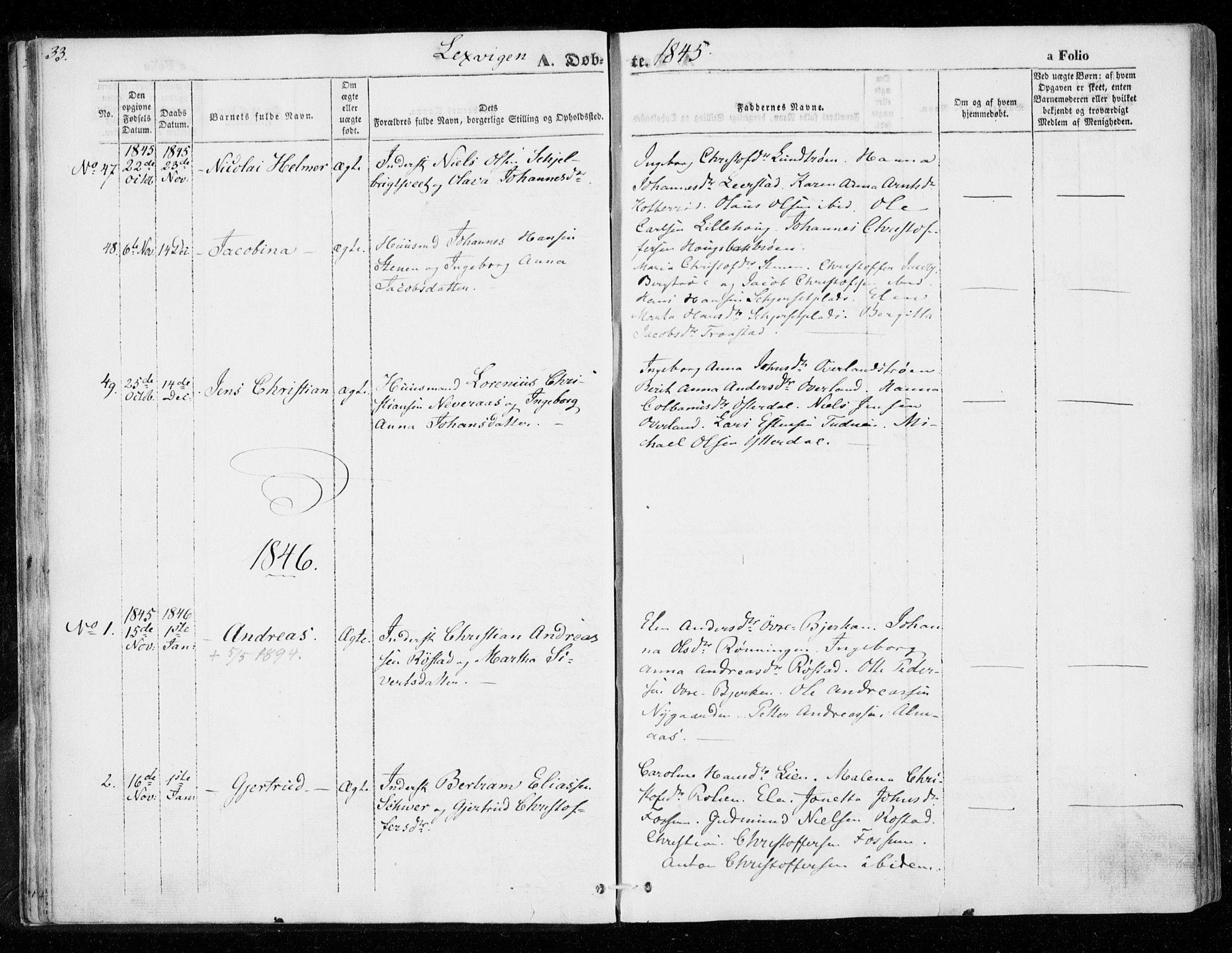 SAT, Ministerialprotokoller, klokkerbøker og fødselsregistre - Nord-Trøndelag, 701/L0007: Ministerialbok nr. 701A07 /1, 1842-1854, s. 33