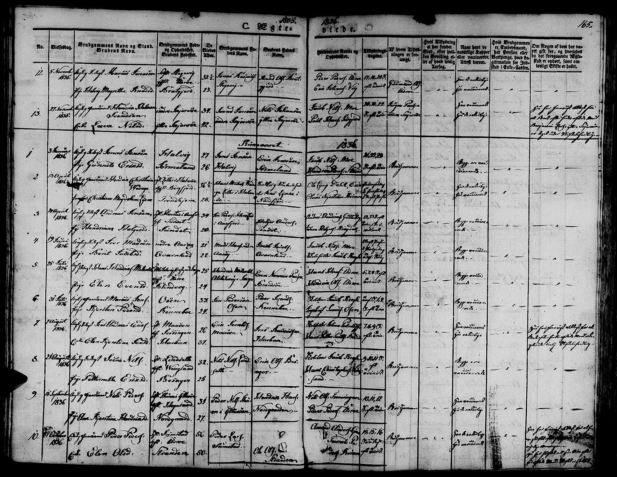 SAT, Ministerialprotokoller, klokkerbøker og fødselsregistre - Sør-Trøndelag, 657/L0703: Ministerialbok nr. 657A04, 1831-1846, s. 165