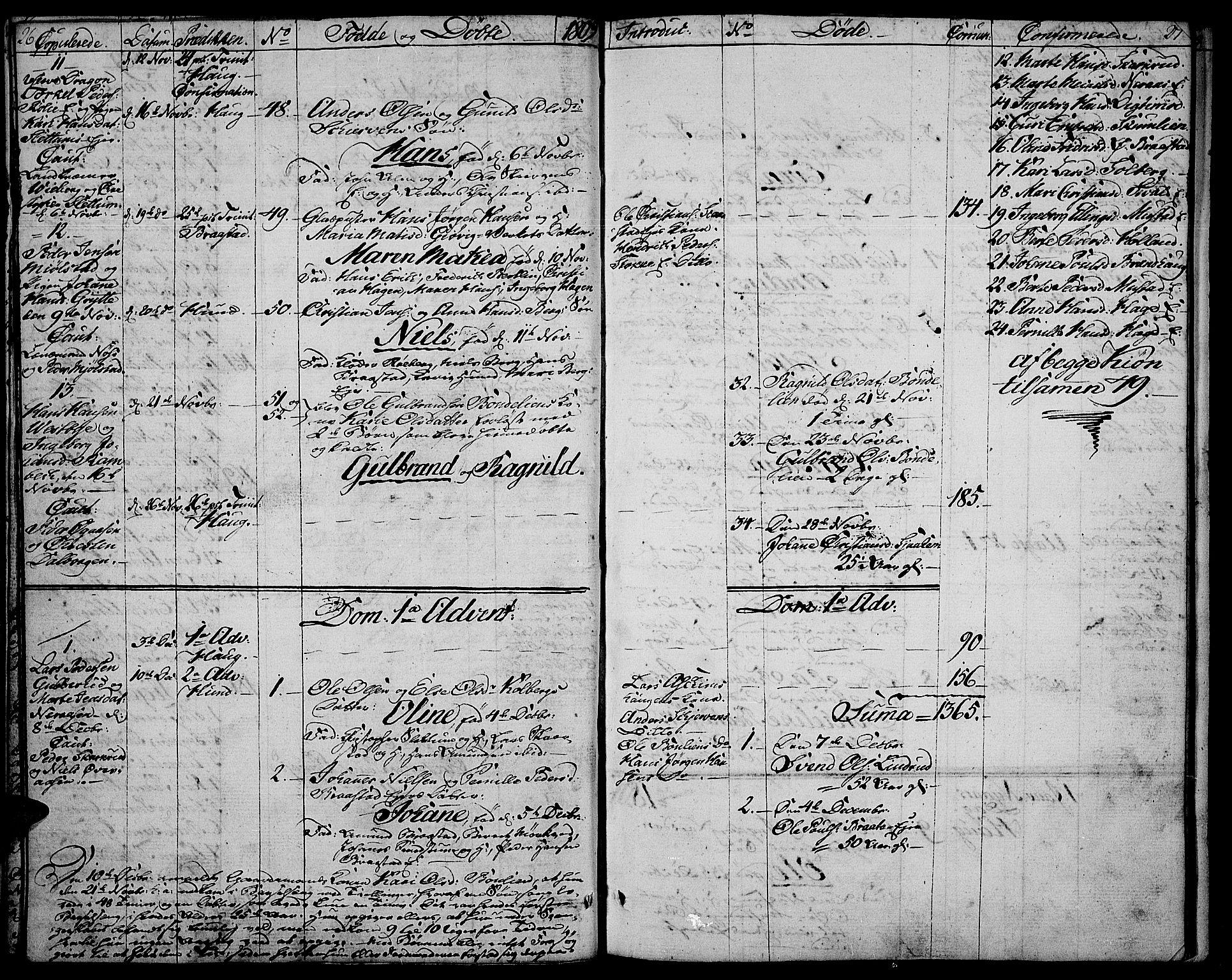 SAH, Vardal prestekontor, H/Ha/Haa/L0003: Ministerialbok nr. 3, 1808-1814, s. 26-27