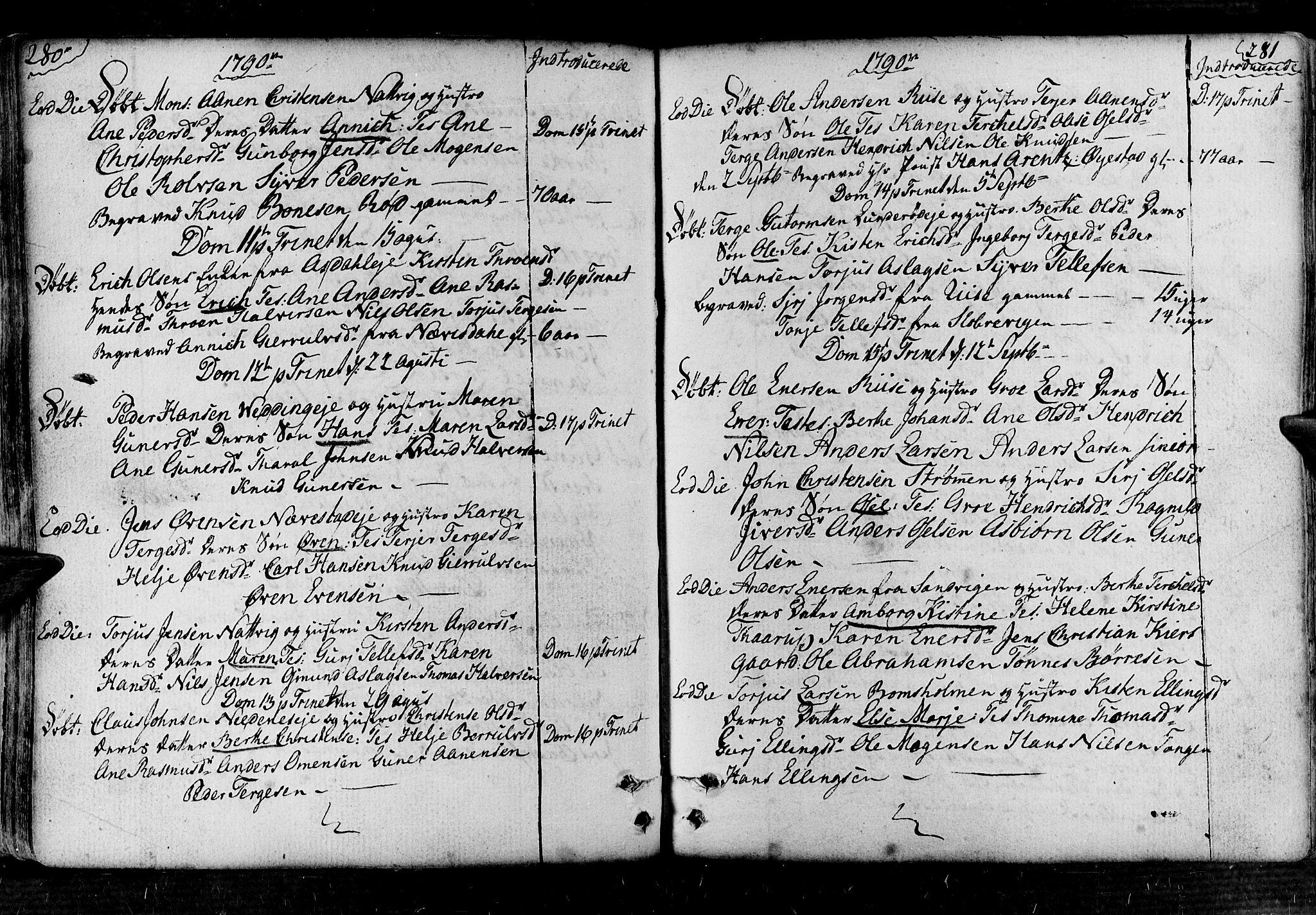 SAK, Øyestad sokneprestkontor, F/Fa/L0008: Ministerialbok nr. A 8, 1777-1804, s. 280-281
