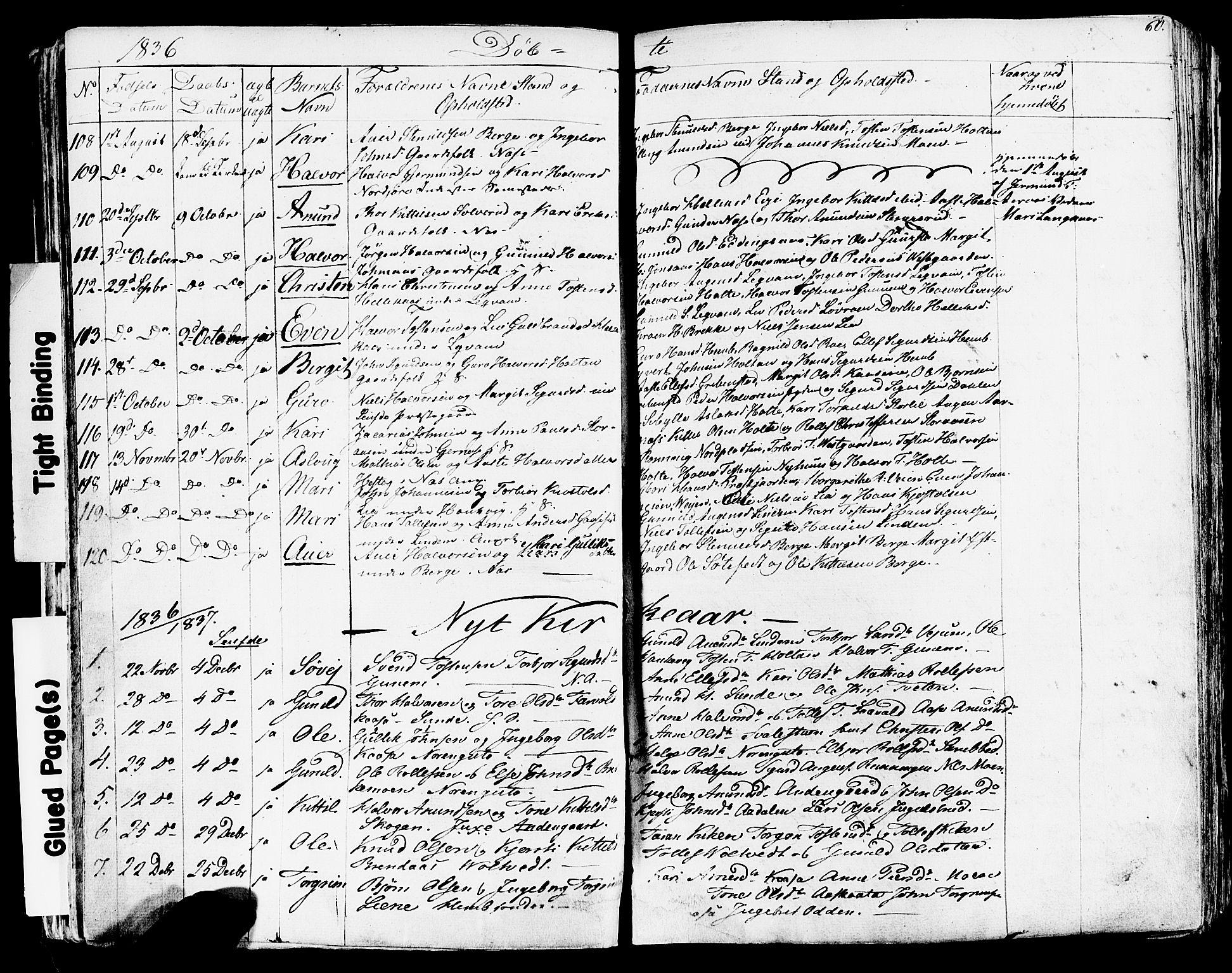 SAKO, Sauherad kirkebøker, F/Fa/L0006: Ministerialbok nr. I 6, 1827-1850, s. 60