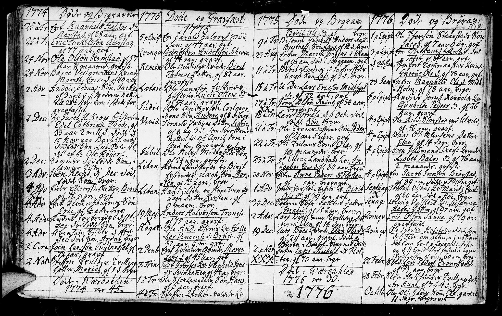 SAT, Ministerialprotokoller, klokkerbøker og fødselsregistre - Nord-Trøndelag, 723/L0231: Ministerialbok nr. 723A02, 1748-1780, s. 318
