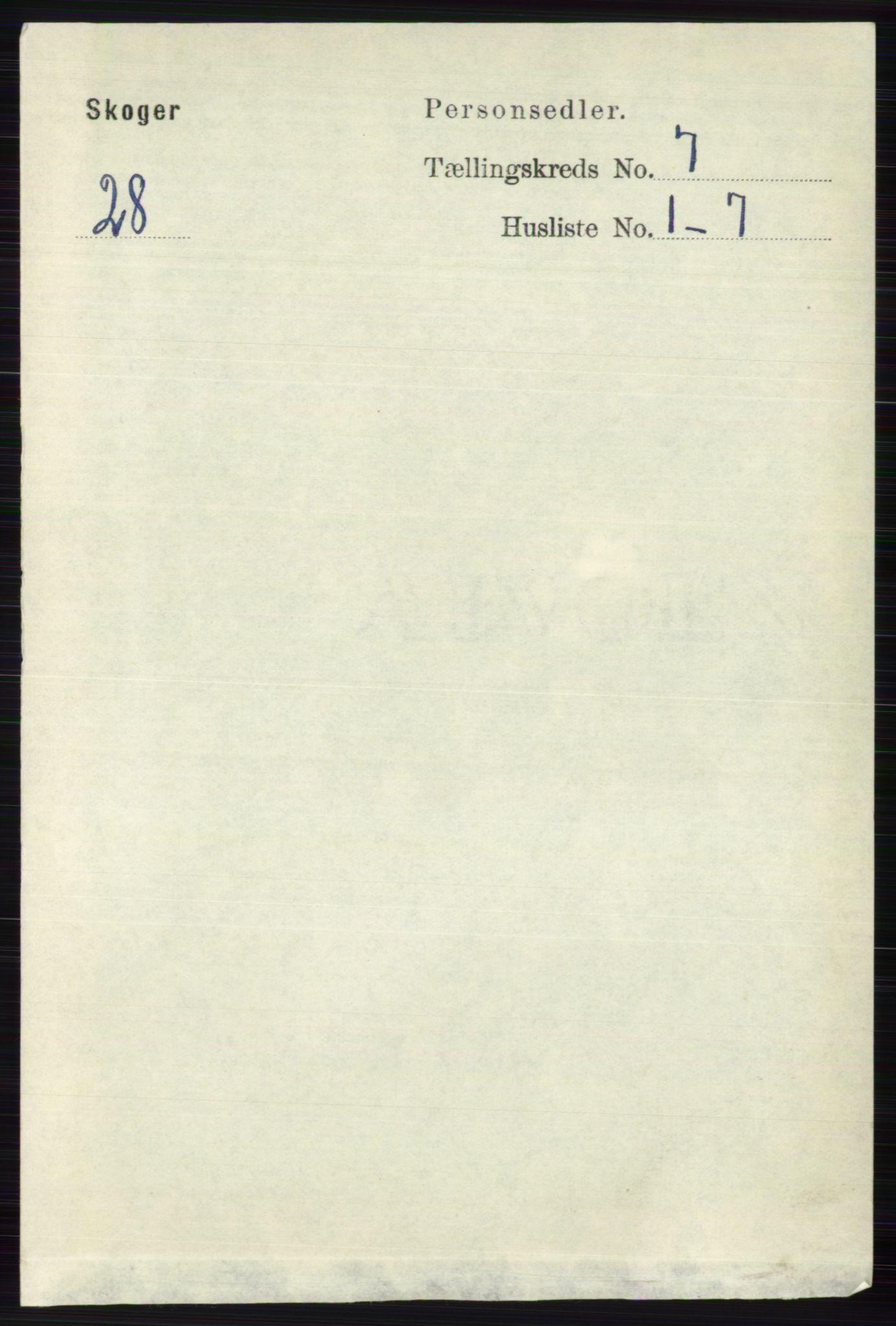 RA, Folketelling 1891 for 0712 Skoger herred, 1891, s. 3708
