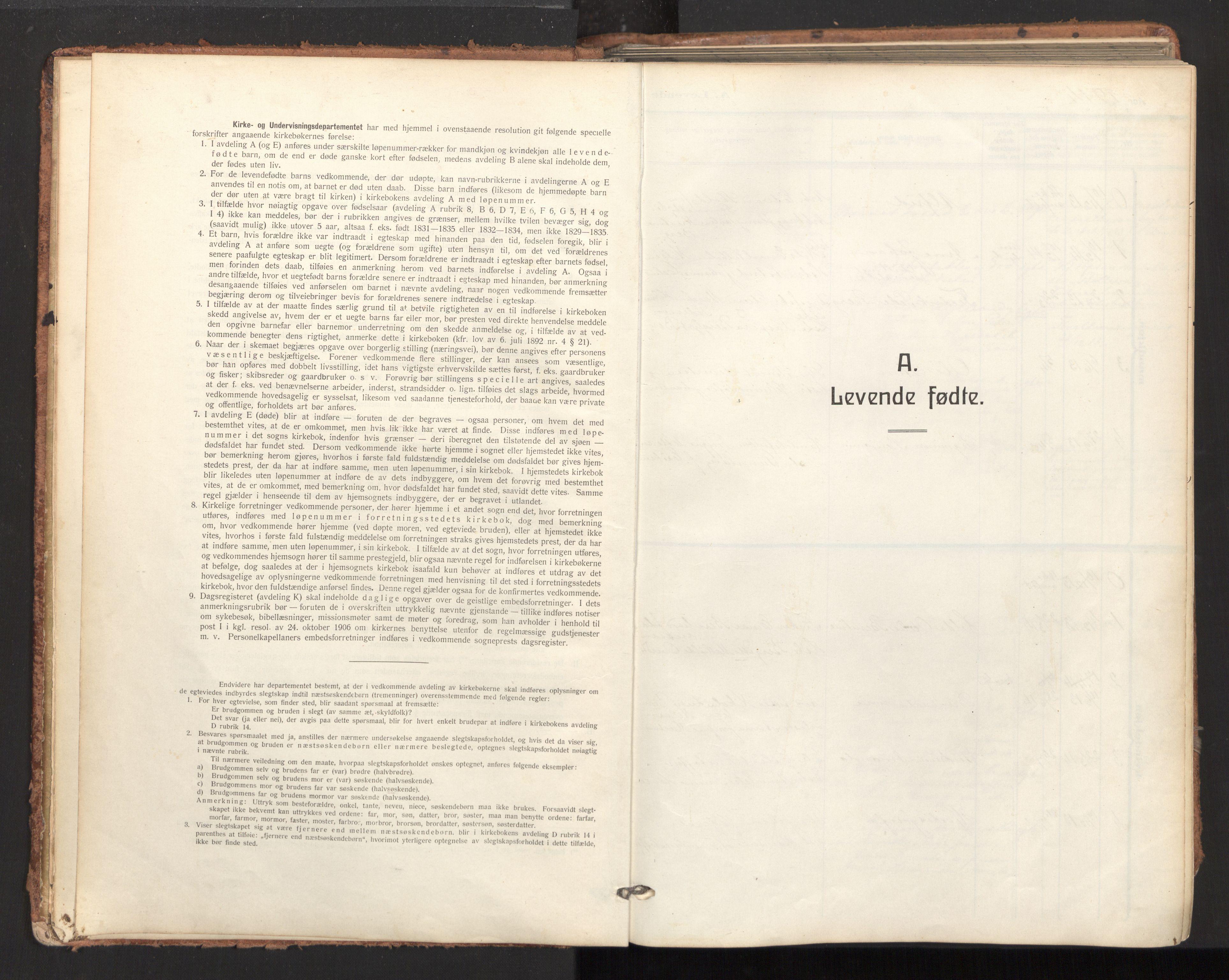SAT, Ministerialprotokoller, klokkerbøker og fødselsregistre - Nordland, 893/L1343: Ministerialbok nr. 893A15, 1914-1928