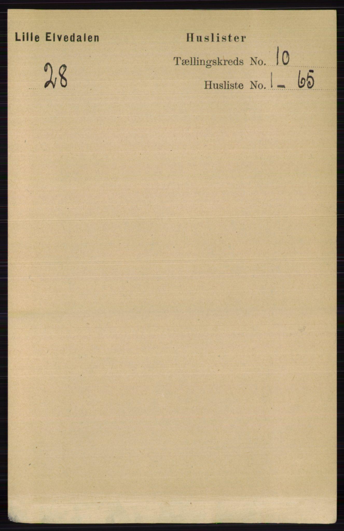 RA, Folketelling 1891 for 0438 Lille Elvedalen herred, 1891, s. 3353