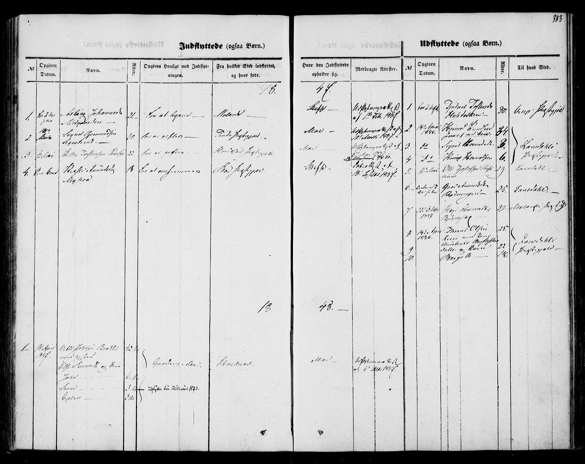 SAKO, Mo kirkebøker, F/Fa/L0005: Ministerialbok nr. I 5, 1844-1864, s. 383