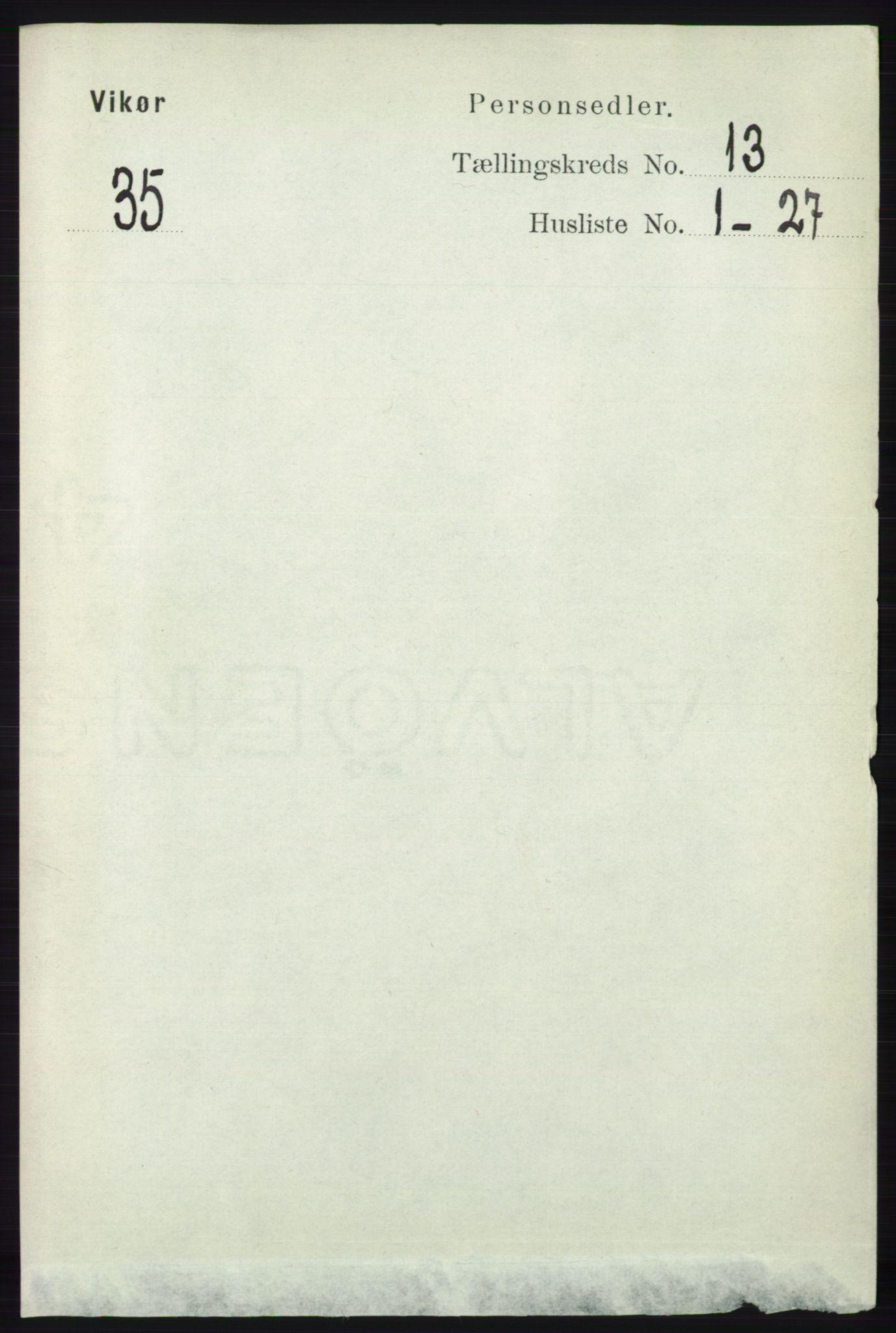 RA, Folketelling 1891 for 1238 Vikør herred, 1891, s. 3614