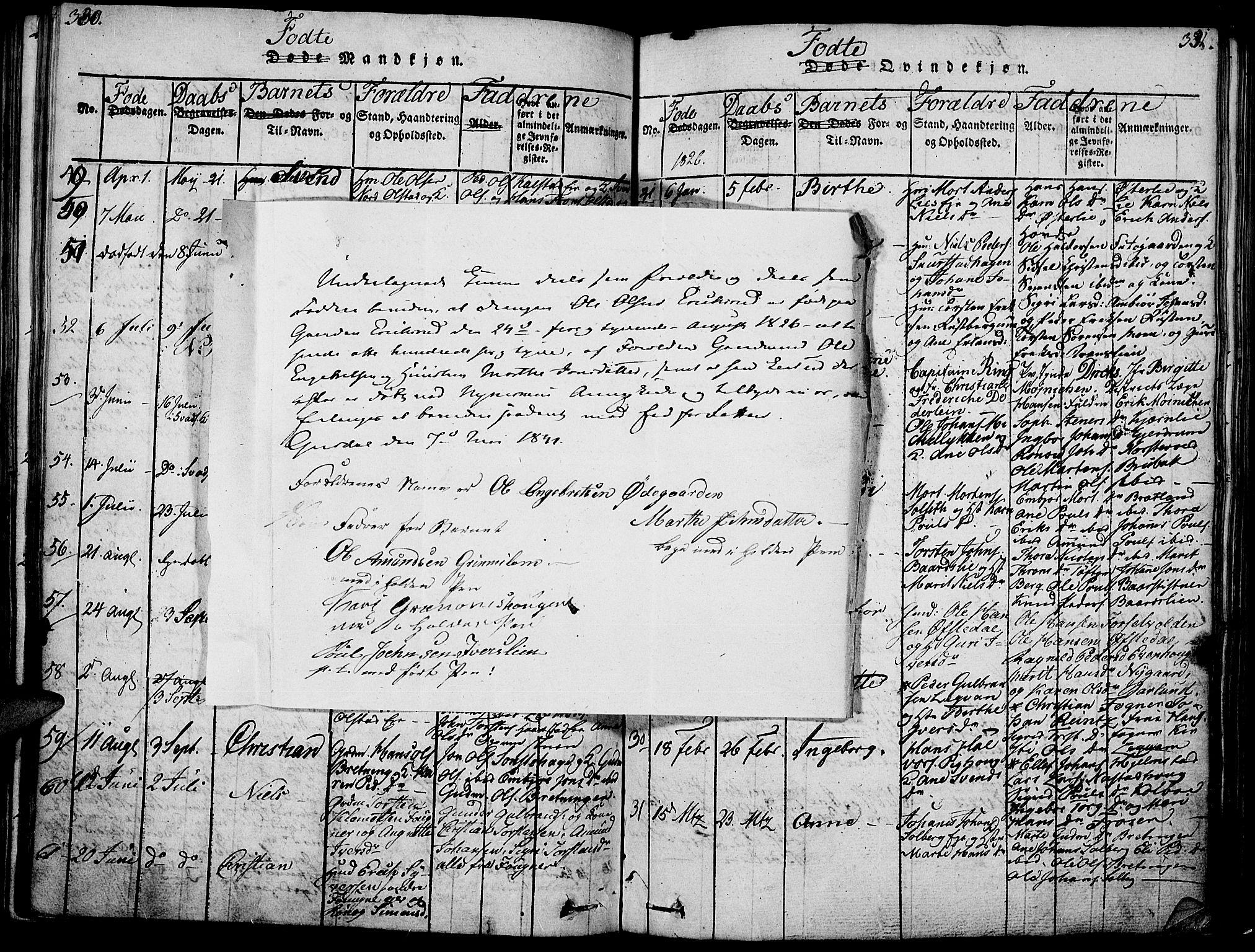 SAH, Gausdal prestekontor, Ministerialbok nr. 5, 1817-1829, s. 330-331