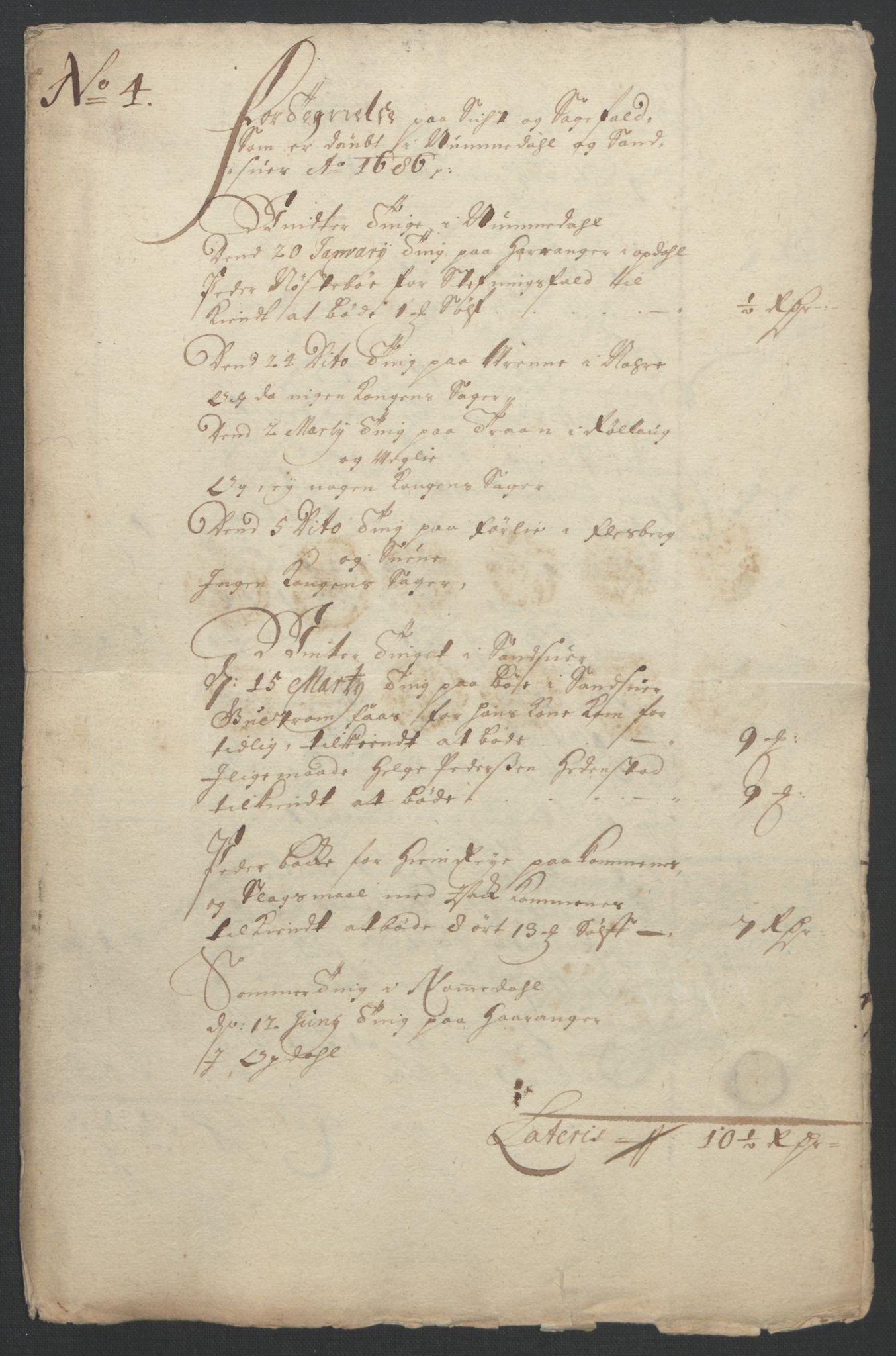 RA, Rentekammeret inntil 1814, Reviderte regnskaper, Fogderegnskap, R24/L1572: Fogderegnskap Numedal og Sandsvær, 1679-1686, s. 17
