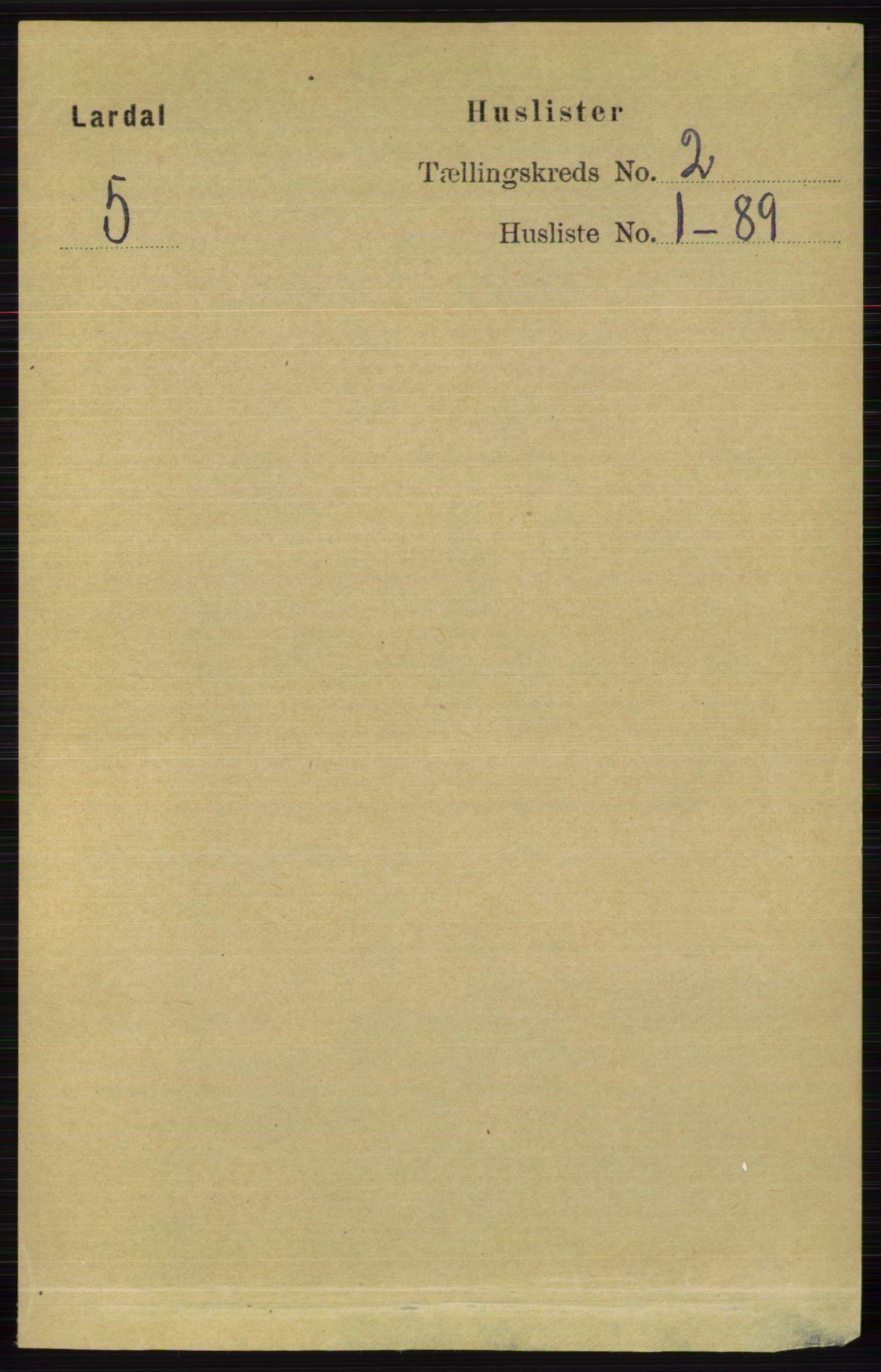 RA, Folketelling 1891 for 0728 Lardal herred, 1891, s. 633
