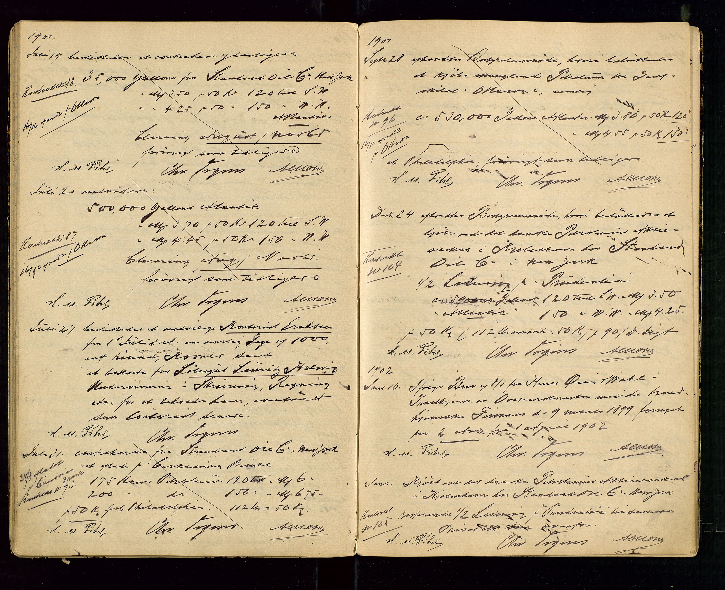 SAST, PA 1533 - A/S Vestlandske Petroleumscompani, A/Aa/L0001: Generalforsamlinger og styreprotokoller, 1890-1907, s. 43