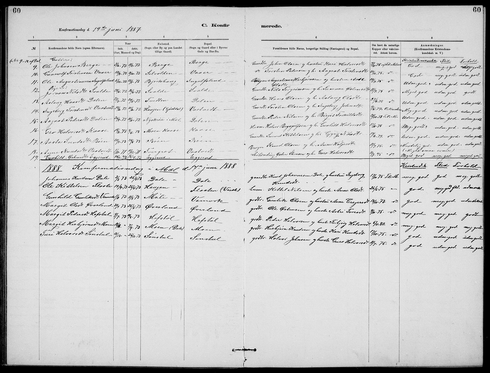 SAKO, Rjukan kirkebøker, G/Ga/L0001: Klokkerbok nr. 1, 1880-1914, s. 60