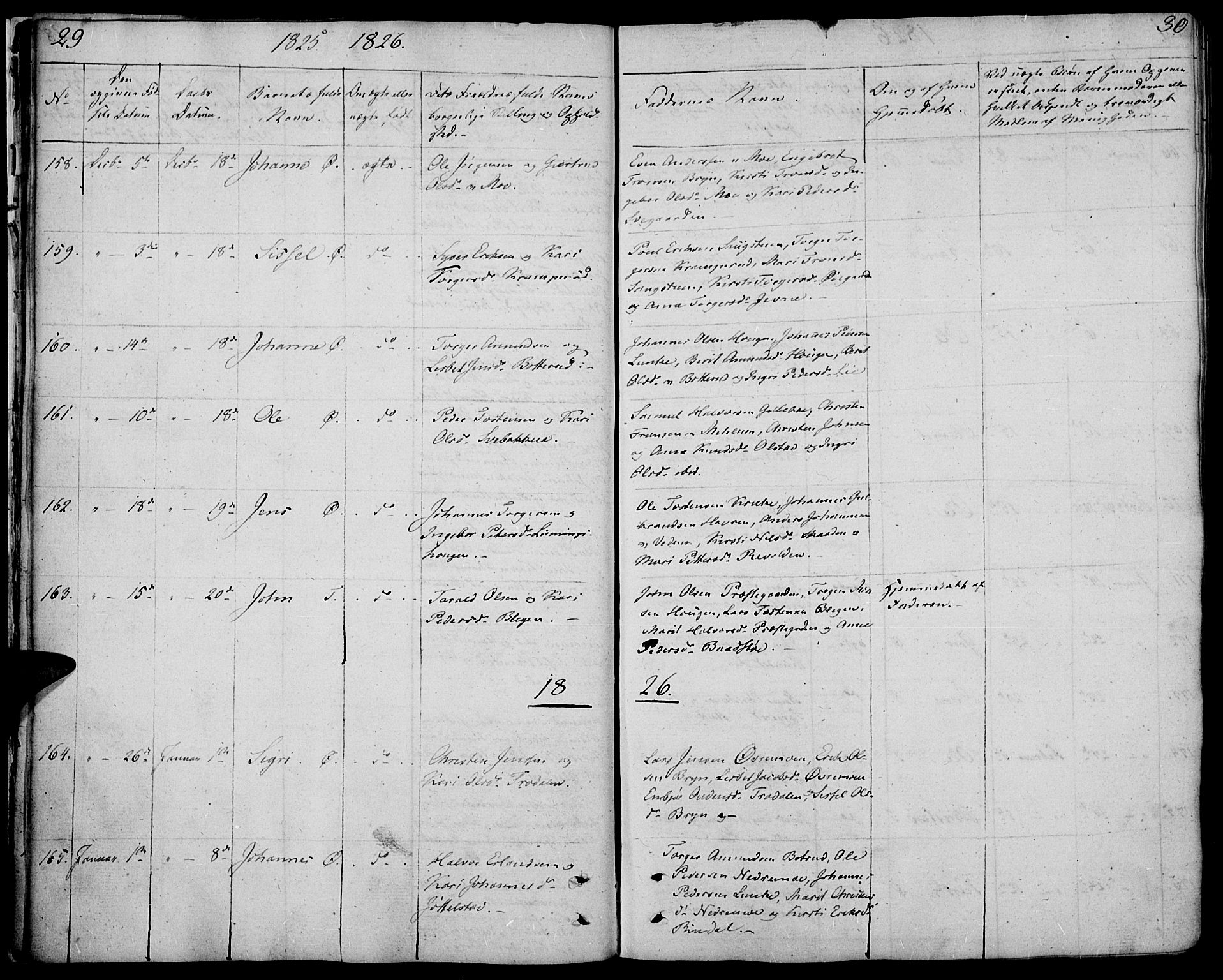 SAH, Øyer prestekontor, Ministerialbok nr. 4, 1824-1841, s. 29-30