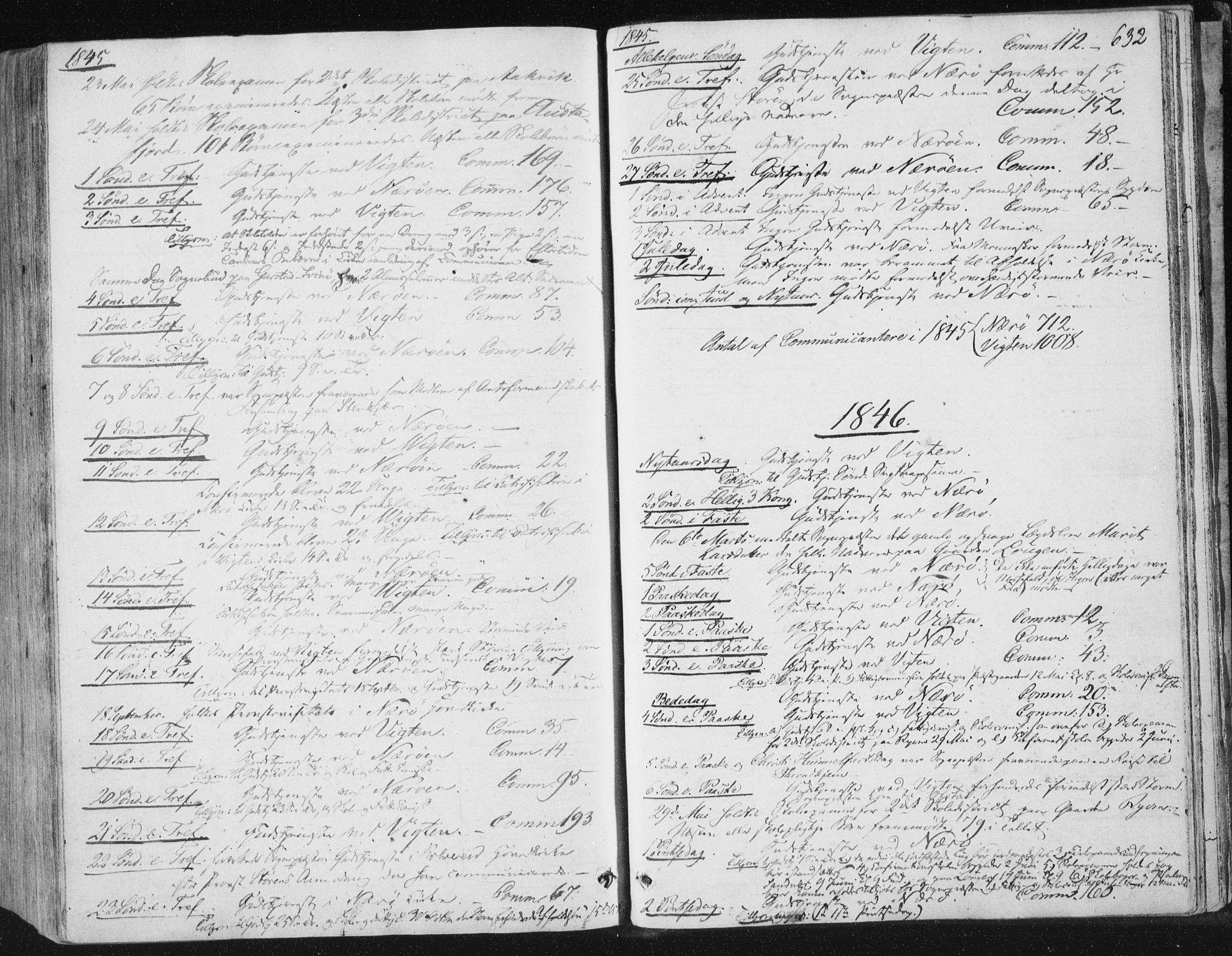 SAT, Ministerialprotokoller, klokkerbøker og fødselsregistre - Nord-Trøndelag, 784/L0669: Ministerialbok nr. 784A04, 1829-1859, s. 632