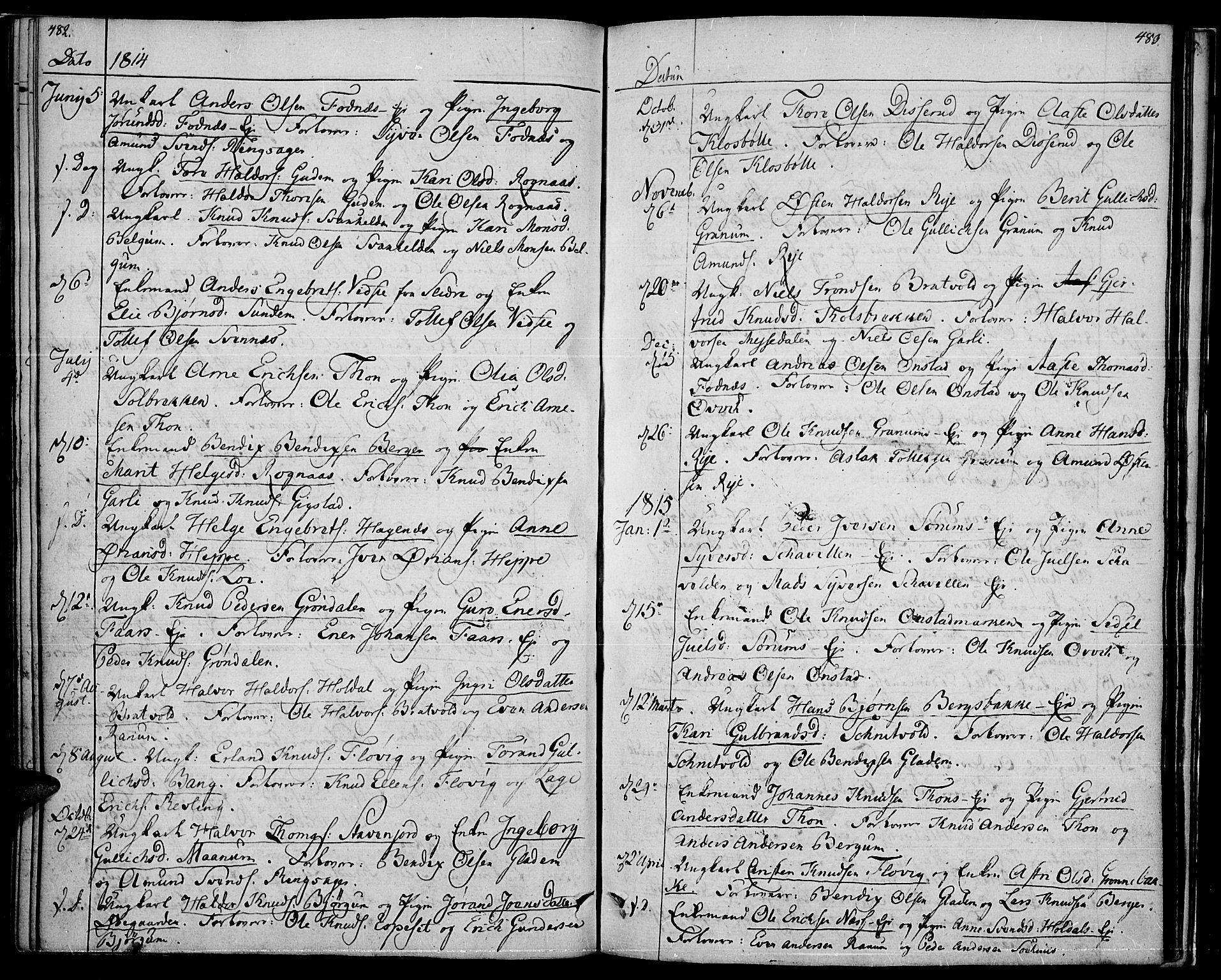 SAH, Nord-Aurdal prestekontor, Ministerialbok nr. 1, 1808-1815, s. 482-483