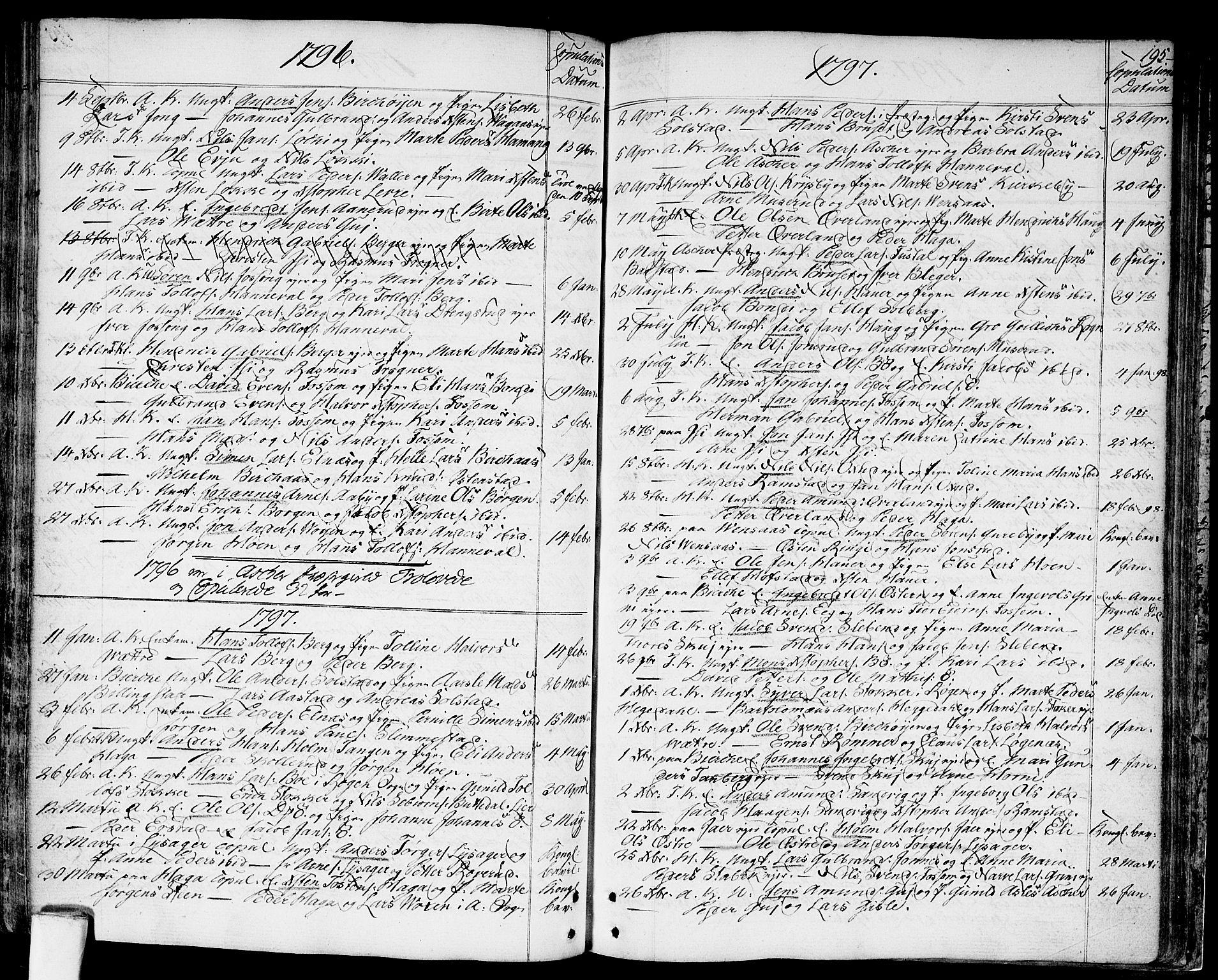 SAO, Asker prestekontor Kirkebøker, F/Fa/L0003: Ministerialbok nr. I 3, 1767-1807, s. 195