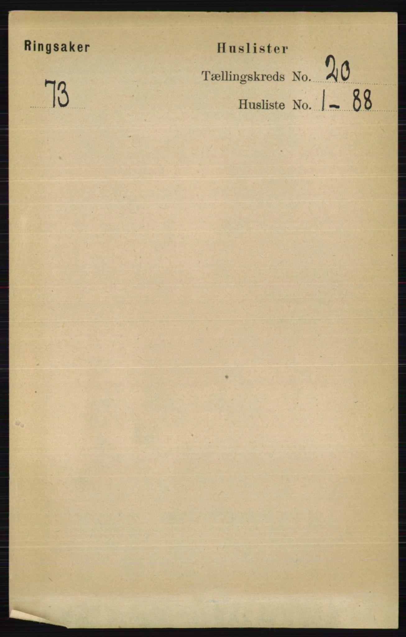 RA, Folketelling 1891 for 0412 Ringsaker herred, 1891, s. 11014