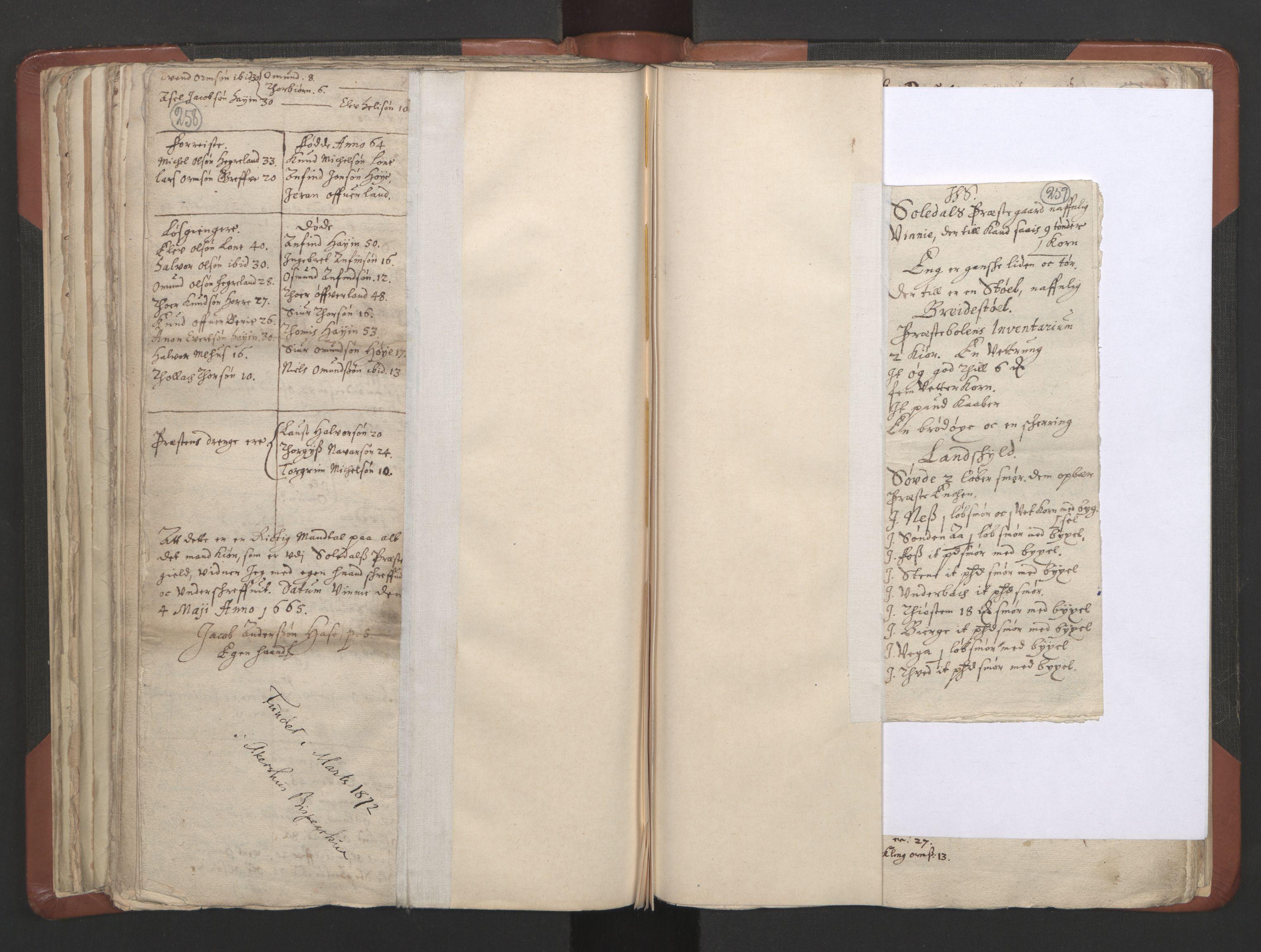 RA, Sogneprestenes manntall 1664-1666, nr. 19: Ryfylke prosti, 1664-1666, s. 258-259