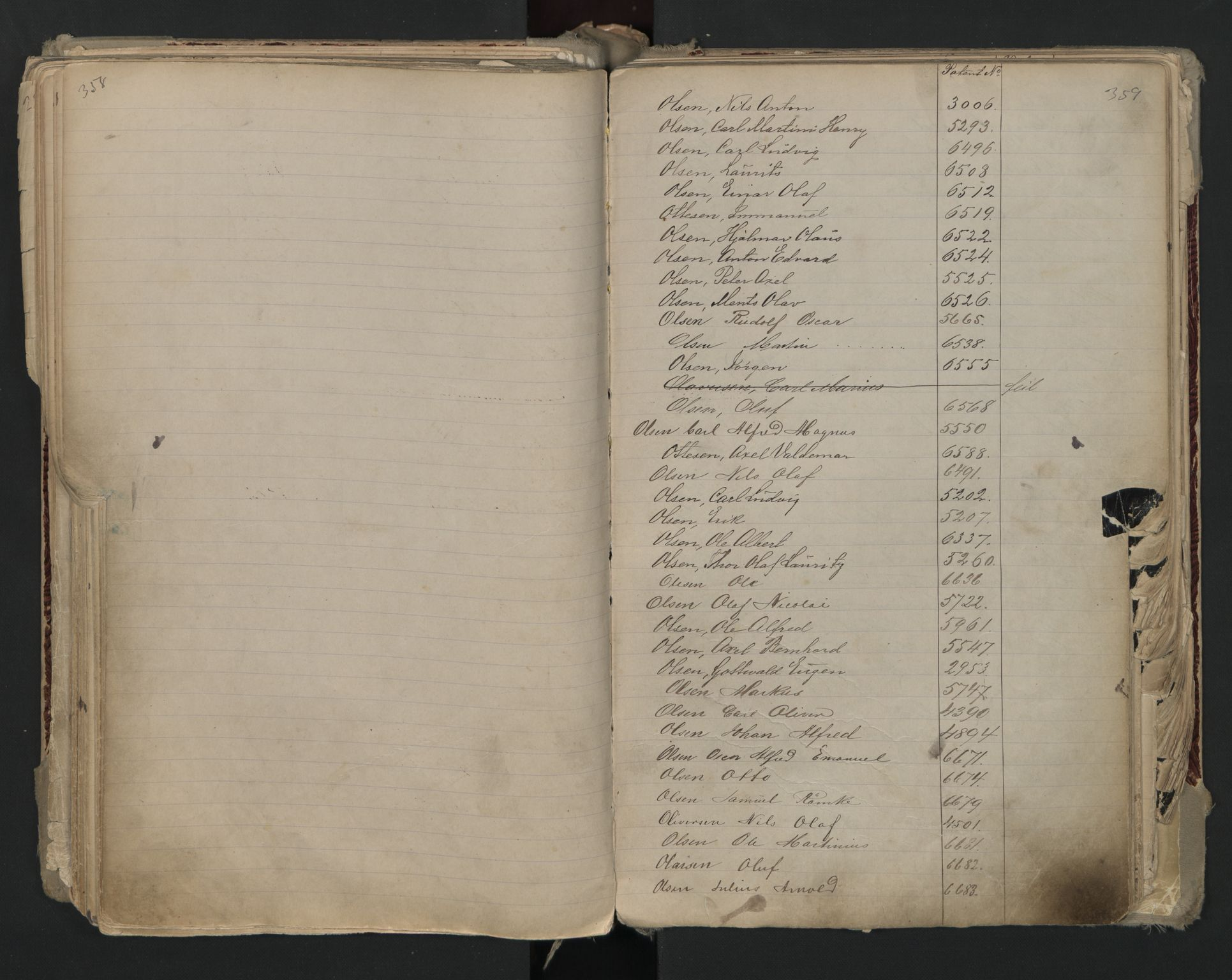 SAO, Oslo sjømannskontor, F/Fa/L0002: Register for Kristiania krets, 1866-1930, s. 358-359
