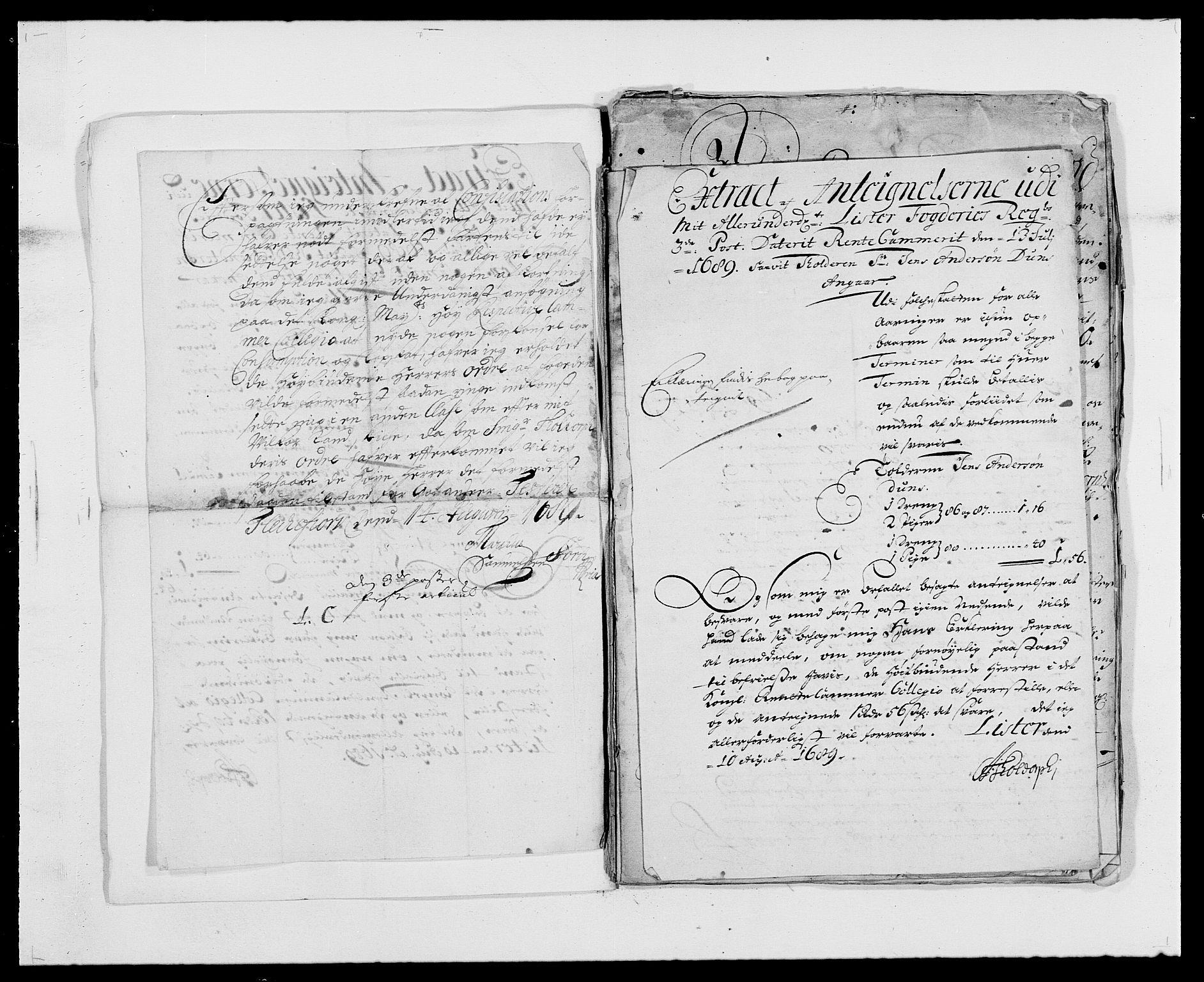 RA, Rentekammeret inntil 1814, Reviderte regnskaper, Fogderegnskap, R41/L2535: Fogderegnskap Lista, 1686-1689, s. 205