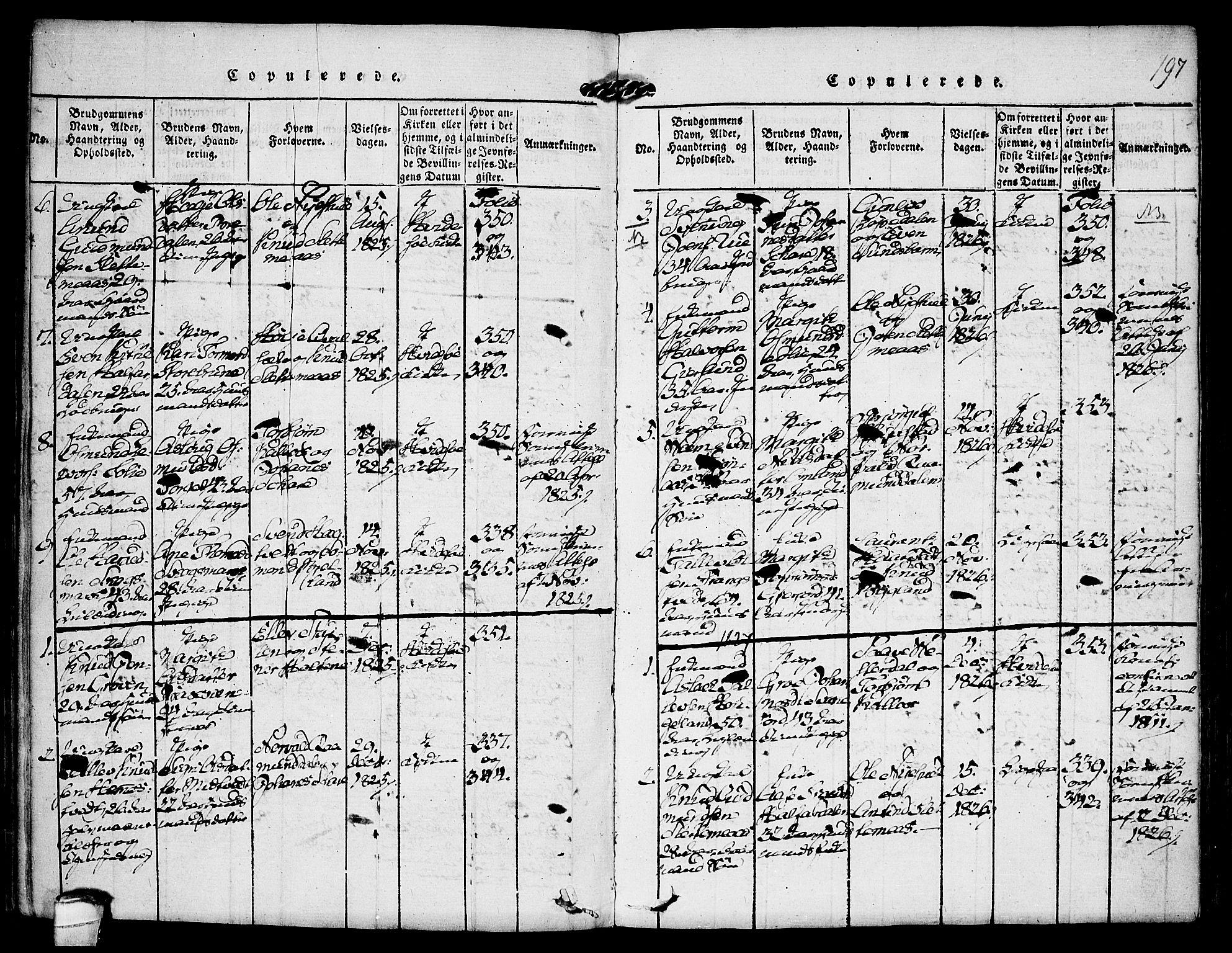 SAKO, Kviteseid kirkebøker, F/Fb/L0001: Ministerialbok nr. II 1, 1815-1836, s. 197