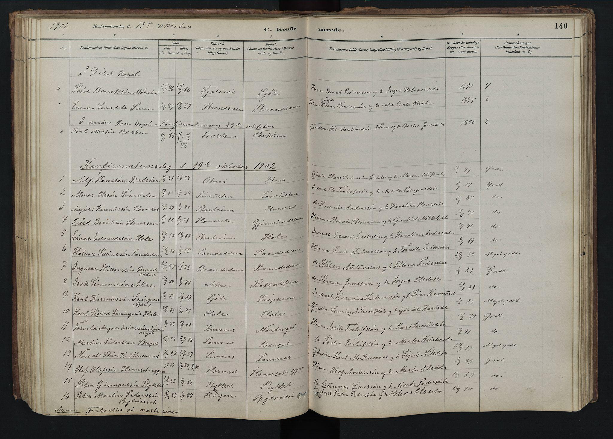 SAH, Rendalen prestekontor, H/Ha/Hab/L0009: Klokkerbok nr. 9, 1879-1902, s. 146