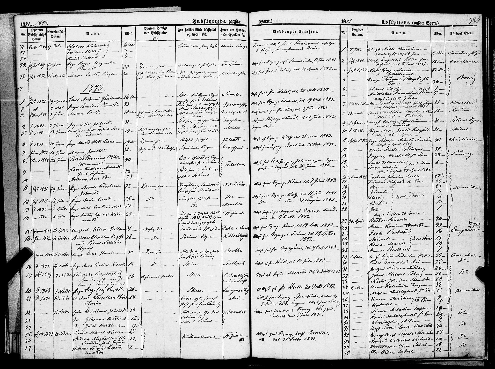 SAKO, Gjerpen kirkebøker, F/Fa/L0007b: Ministerialbok nr. 7B, 1834-1857, s. 384