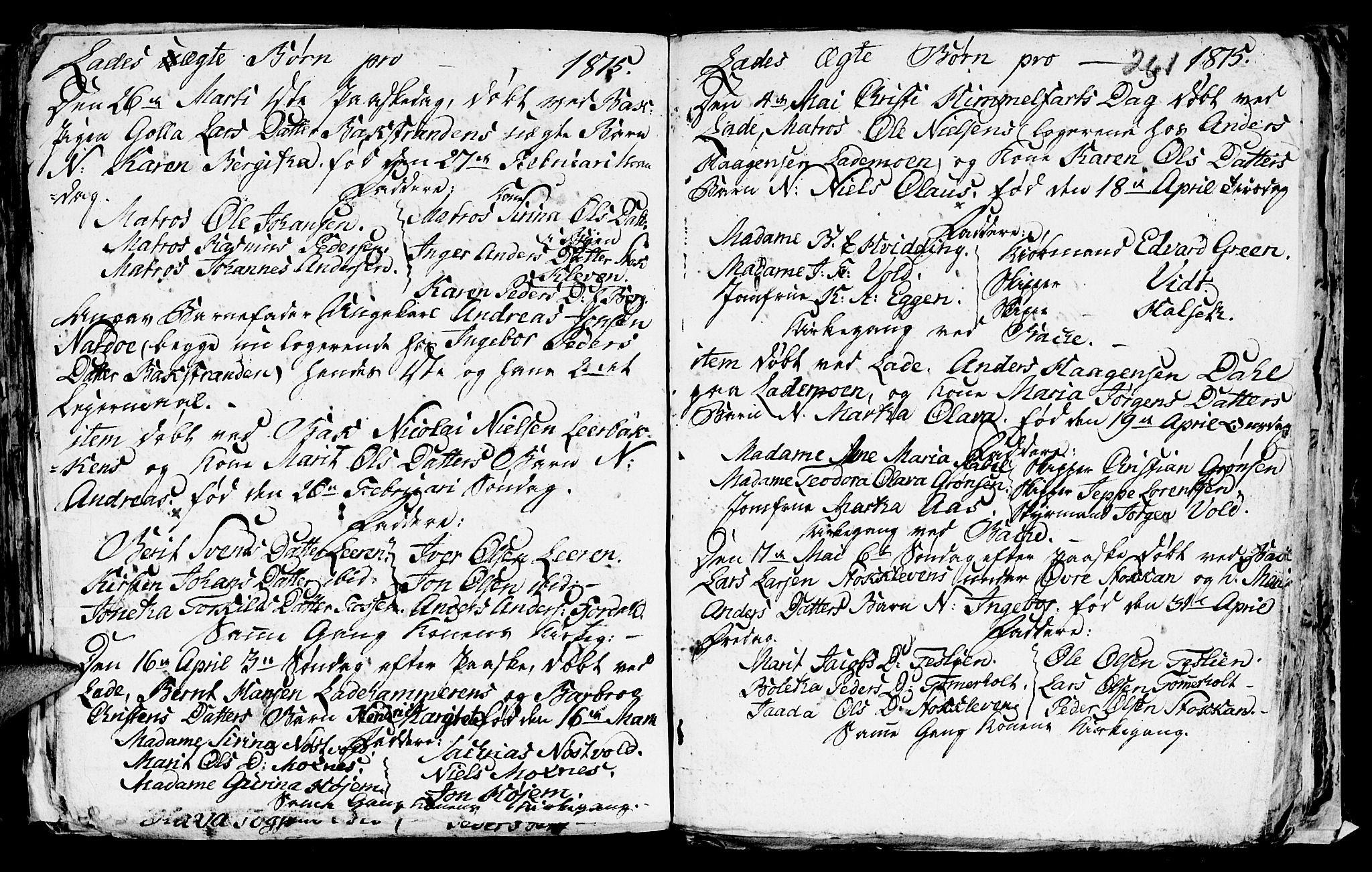 SAT, Ministerialprotokoller, klokkerbøker og fødselsregistre - Sør-Trøndelag, 606/L0305: Klokkerbok nr. 606C01, 1757-1819, s. 261