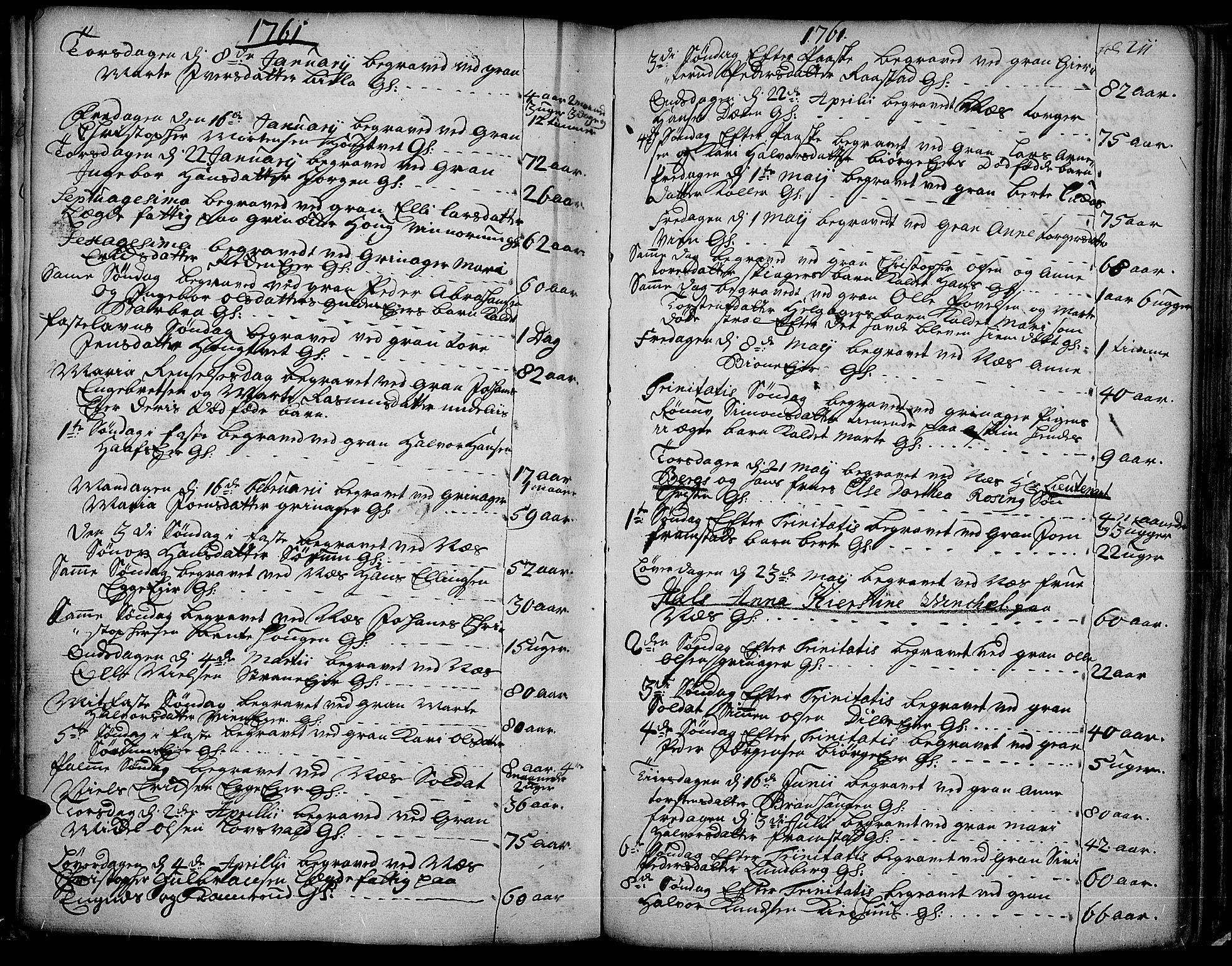 SAH, Gran prestekontor, Ministerialbok nr. 4, 1759-1775, s. 211