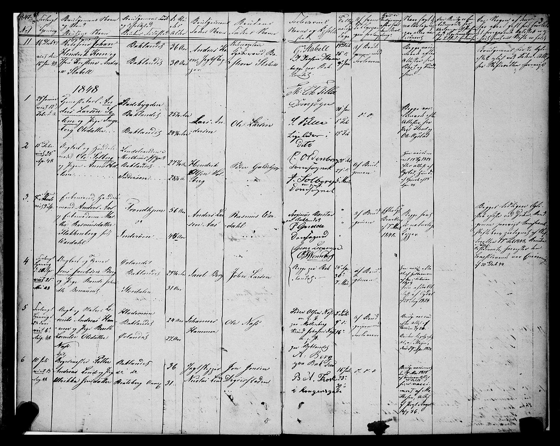 SAT, Ministerialprotokoller, klokkerbøker og fødselsregistre - Sør-Trøndelag, 604/L0187: Ministerialbok nr. 604A08, 1847-1878, s. 3