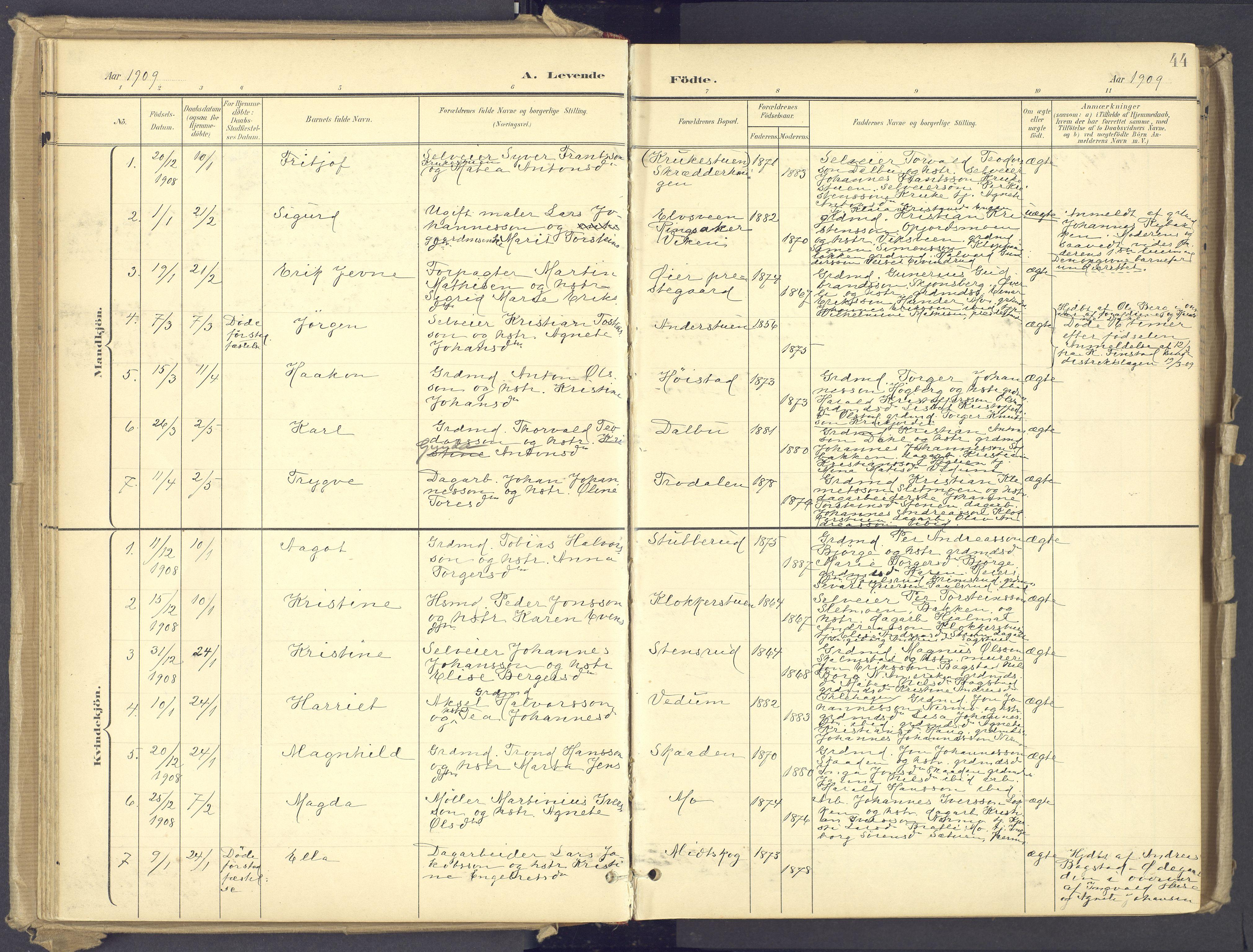 SAH, Øyer prestekontor, Ministerialbok nr. 12, 1897-1920, s. 44
