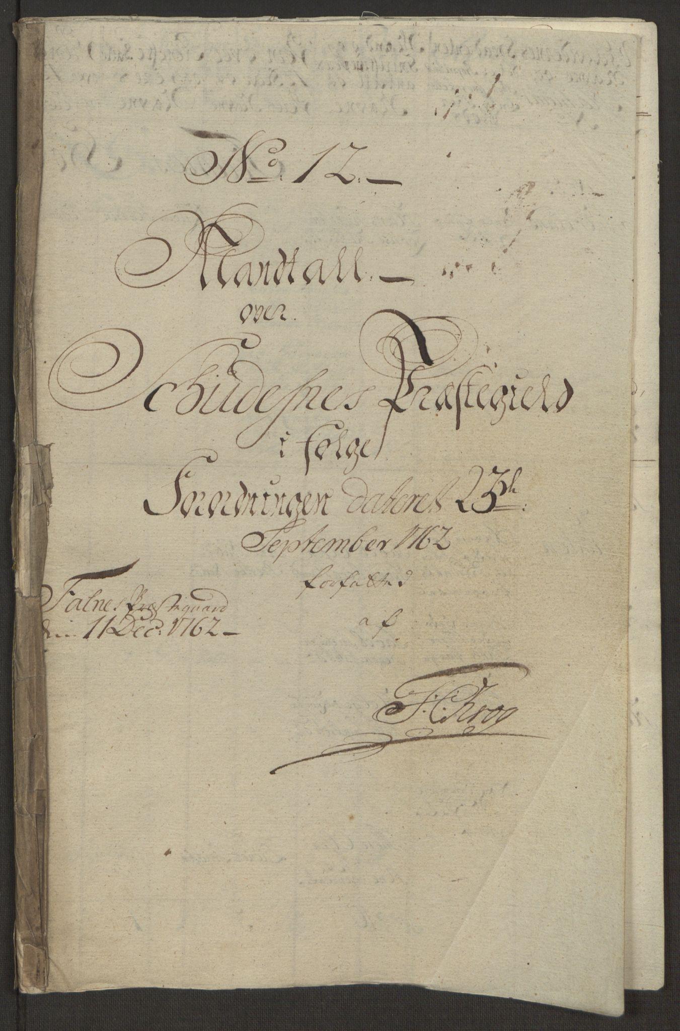 RA, Rentekammeret inntil 1814, Reviderte regnskaper, Hovedkasseregnskaper, Rf/L0072b: Ekstraskatteregnskap, 1762, s. 592