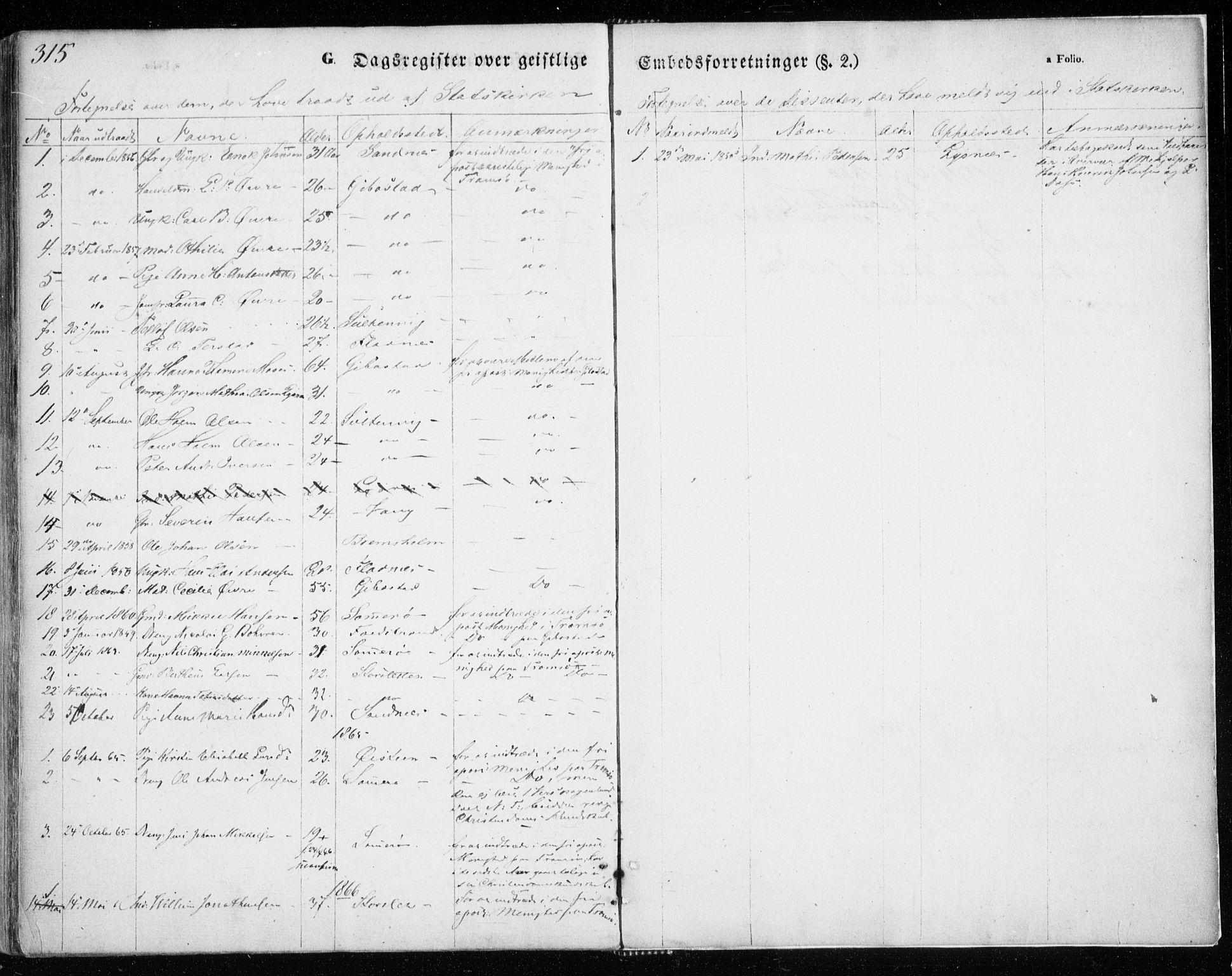SATØ, Lenvik sokneprestembete, H/Ha: Ministerialbok nr. 7, 1855-1865, s. 315
